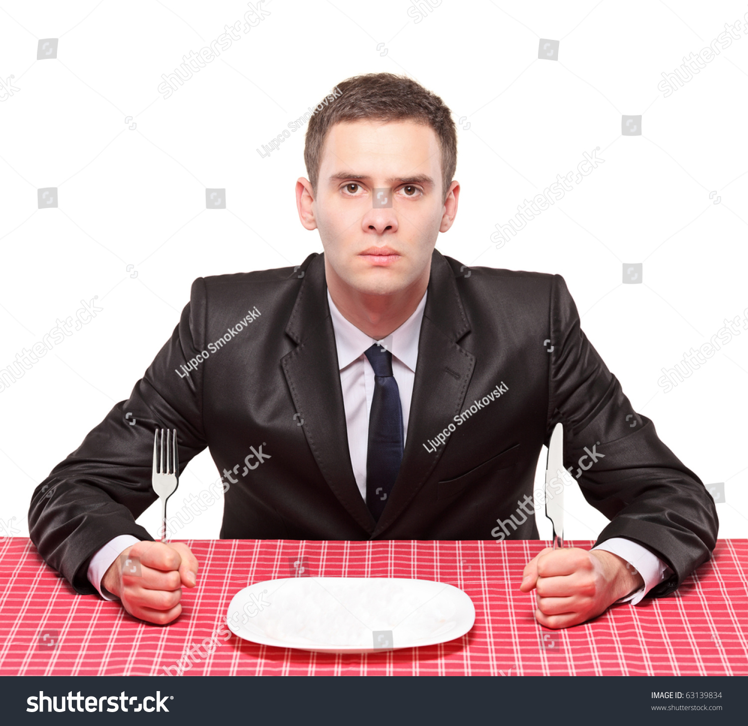 Waiting Tables For Dummies Stock Photo A Businessman Waiting His Meal