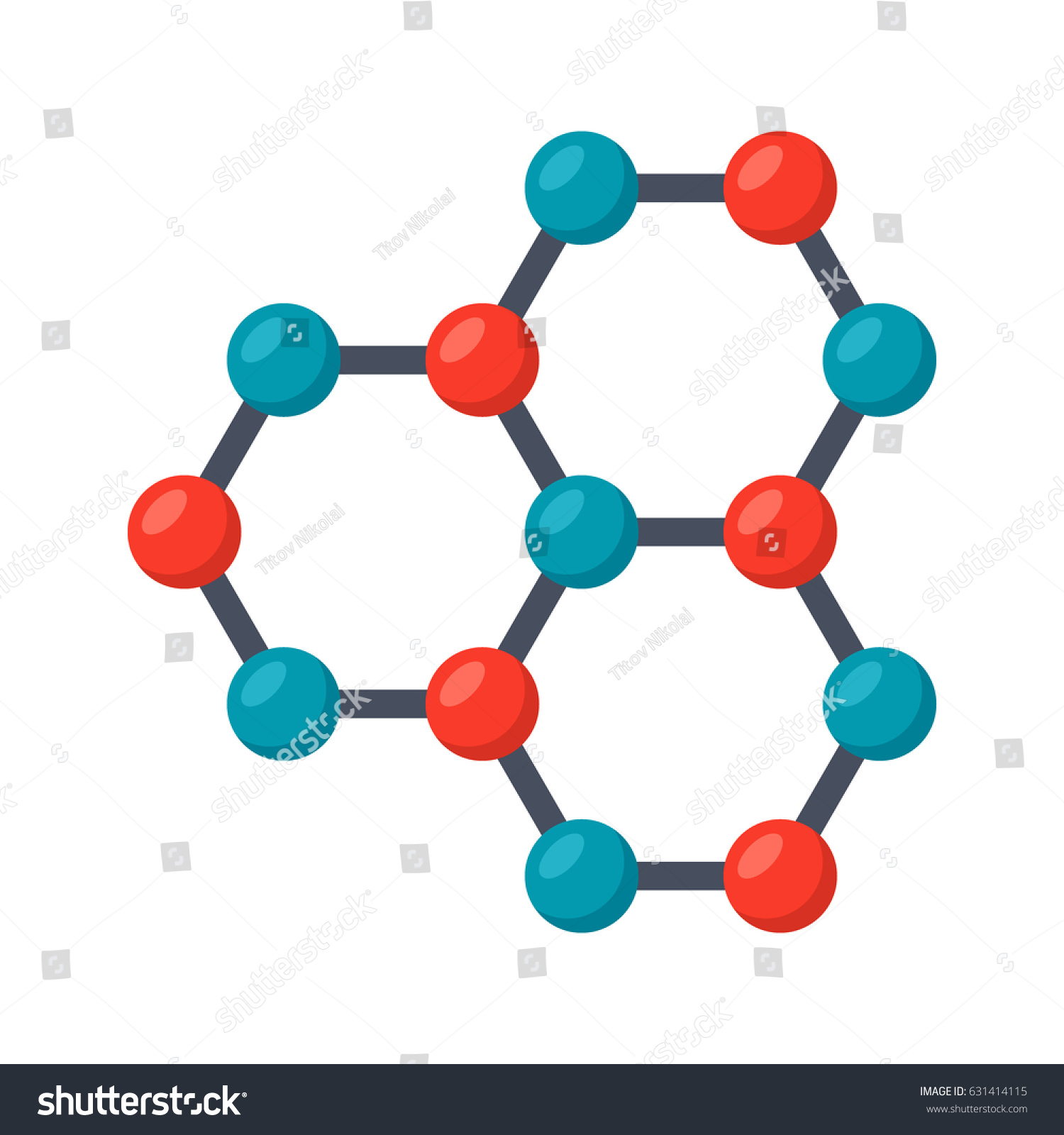 Nanotechnology concept graphene atomic structure vector stock nanotechnology concept with graphene atomic structure vector illustration in flat style ccuart Gallery