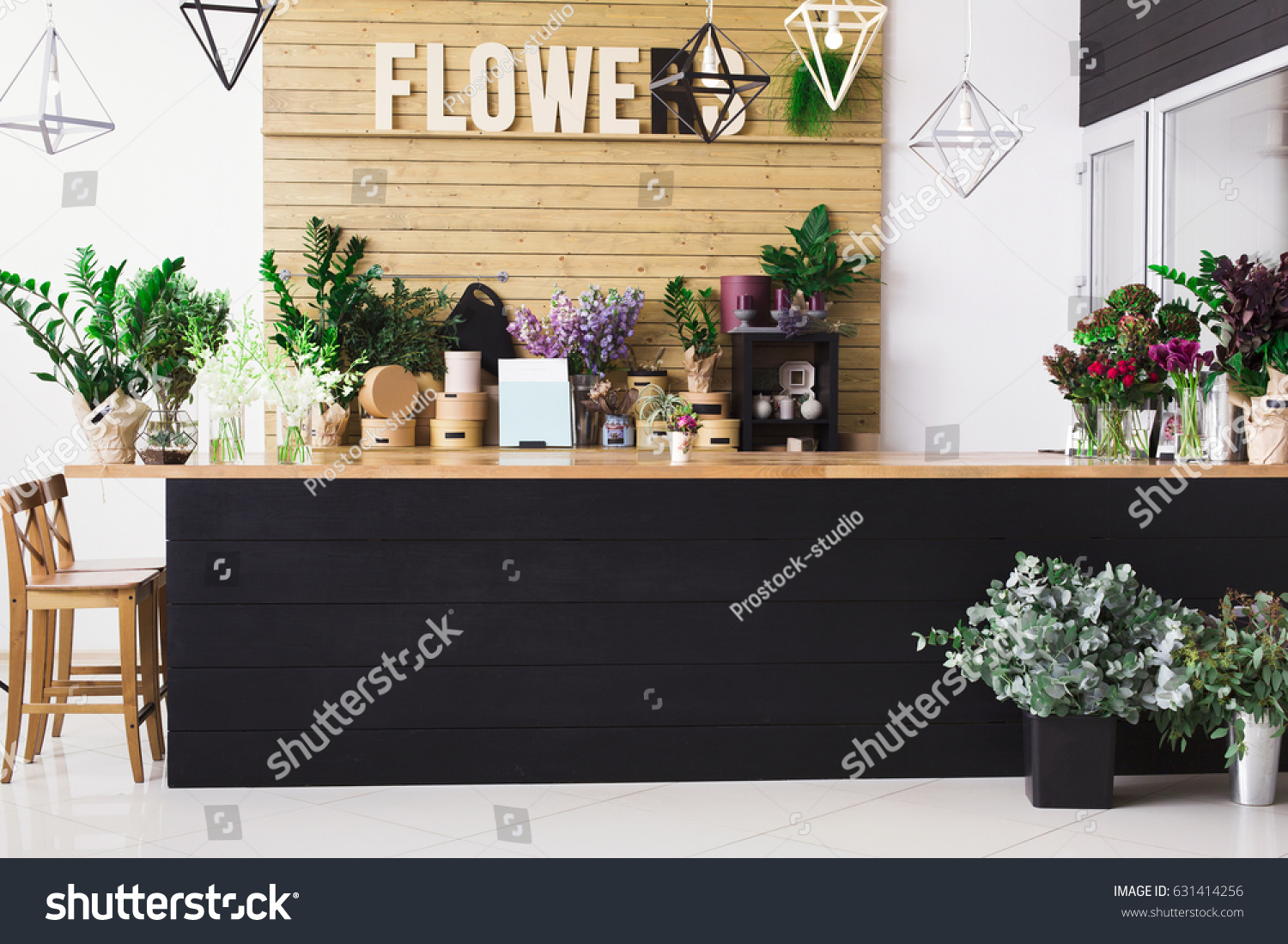 Small Business Flowers Delivery Modern Flower Stock Photo