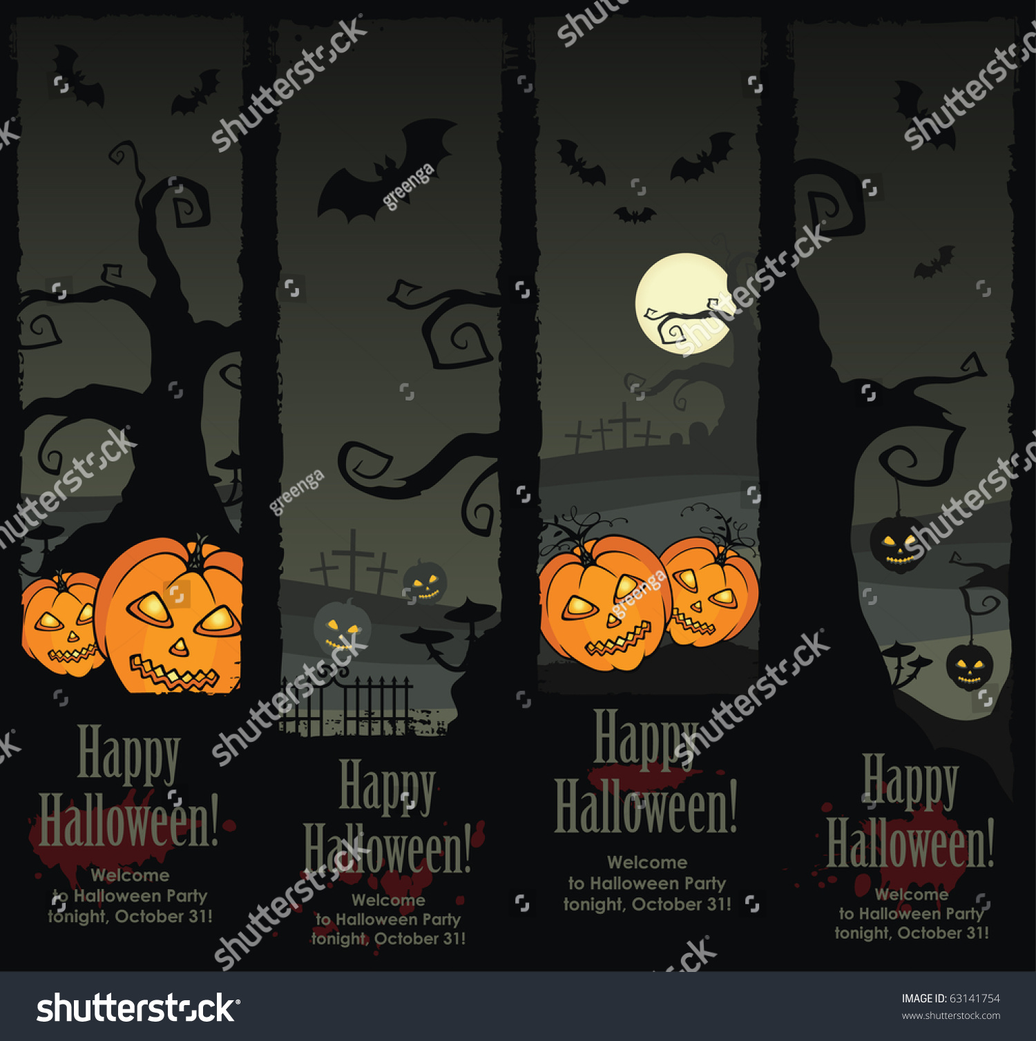 halloween banners vector eps 8 stock vector (royalty free) 63141754