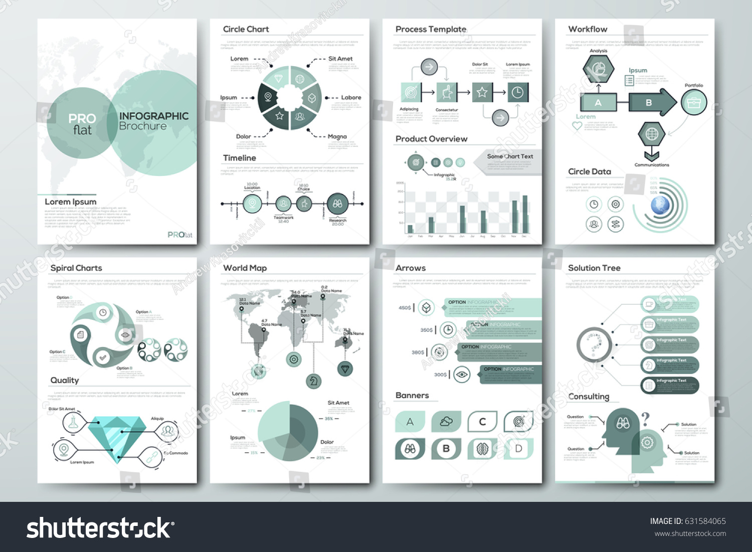 Modern Infographic Brochure Template Pages Diagram Stock Vector - Brochure template for pages