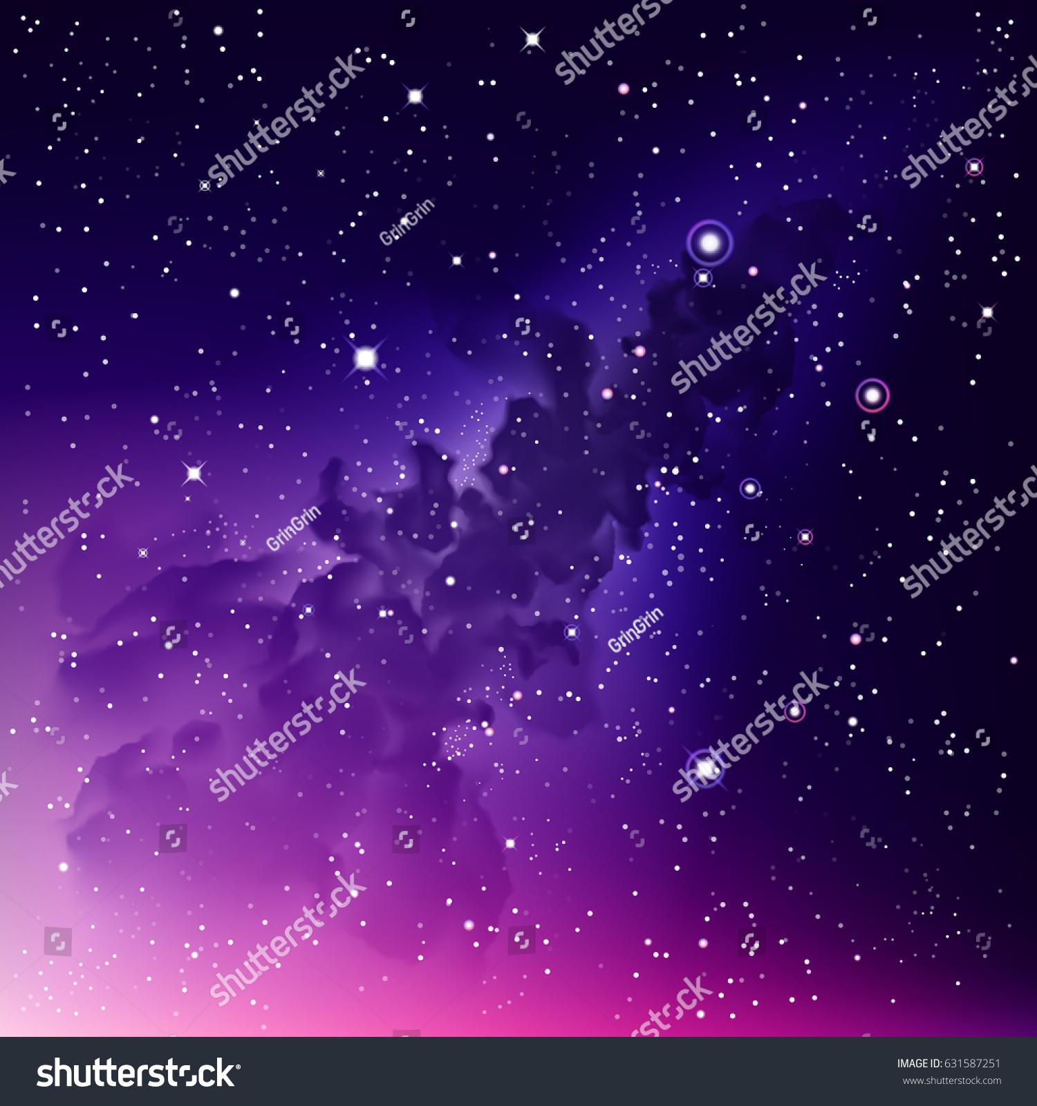 Vector Digital Colorful Illustration Astrology Purple ...