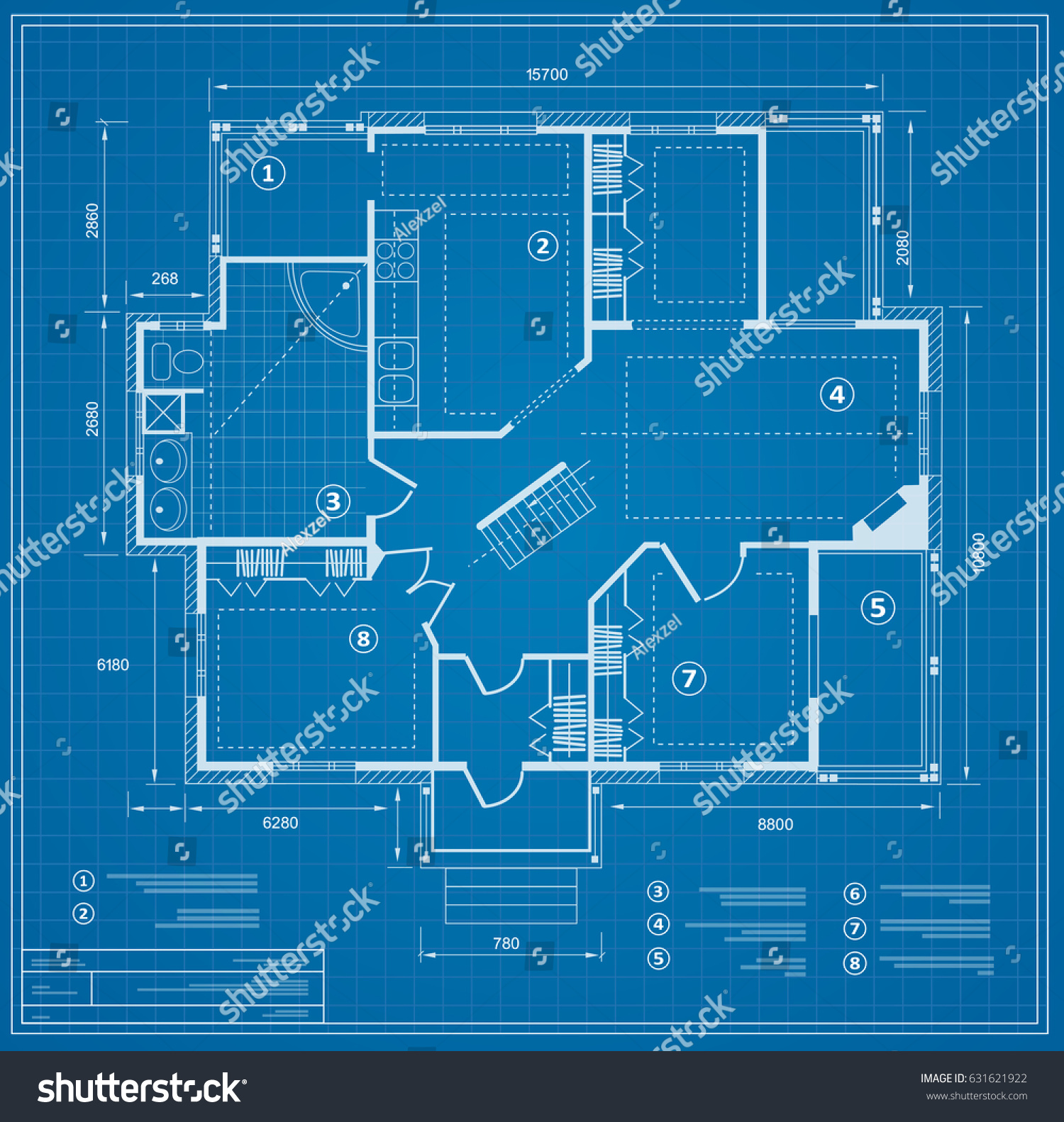 Blueprint house plan drawing figure jotting stock vector 631621922 blueprint house plan drawing figure of the jotting sketch of the construction and the industrial malvernweather Image collections