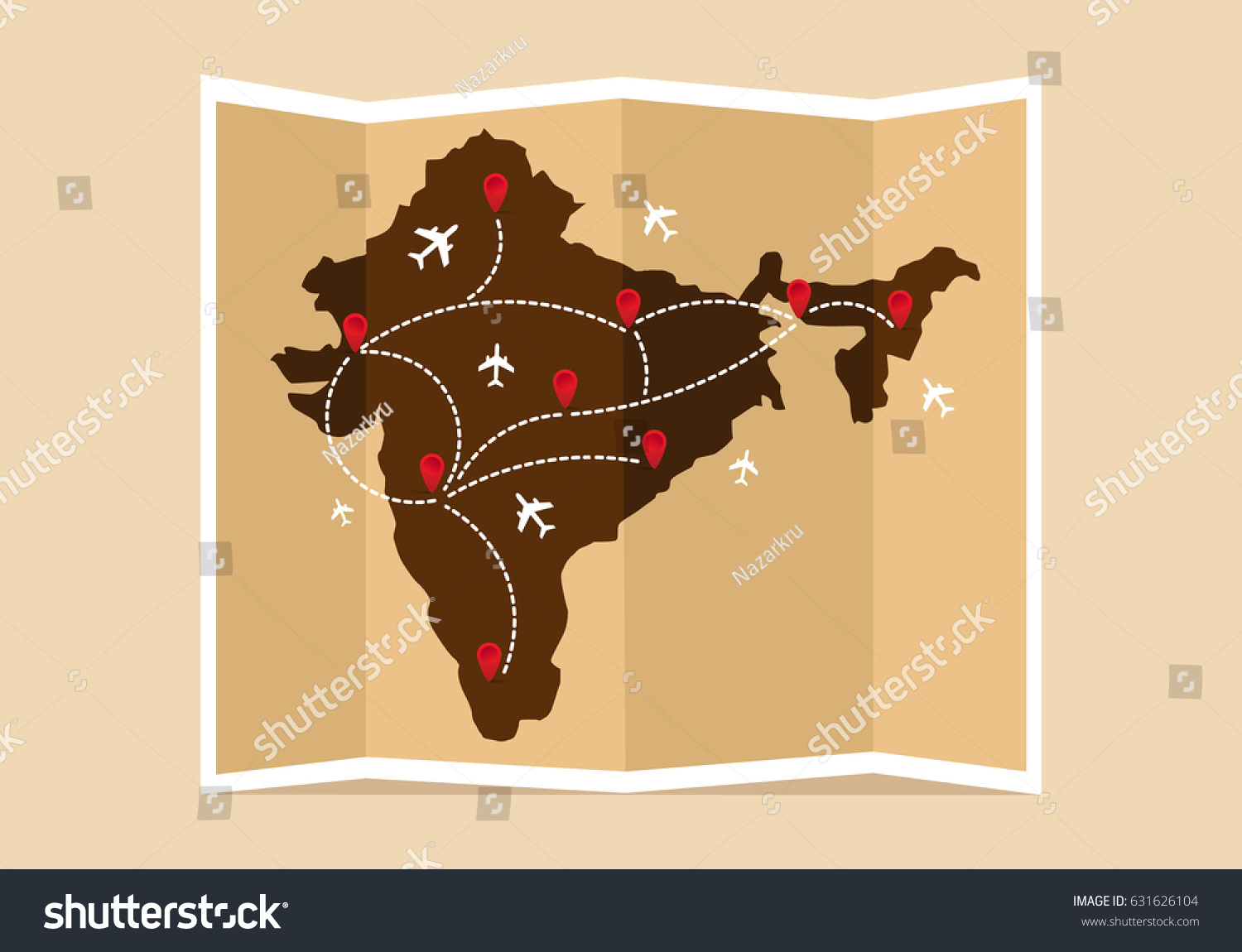 Travel tourism map indian vintage world stock vector 631626104 travel and tourism map indian vintage world map vector illustration flat design gumiabroncs Choice Image