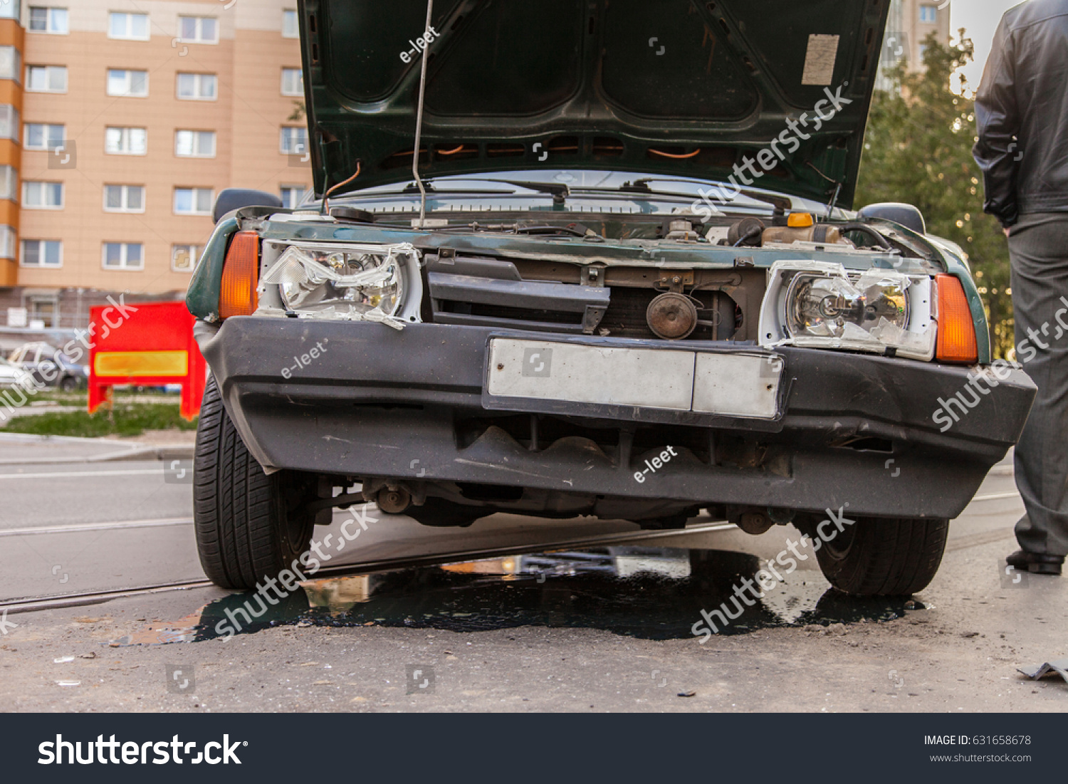 Road Traffic Accident Old Car Crash Stock Photo (Royalty Free ...