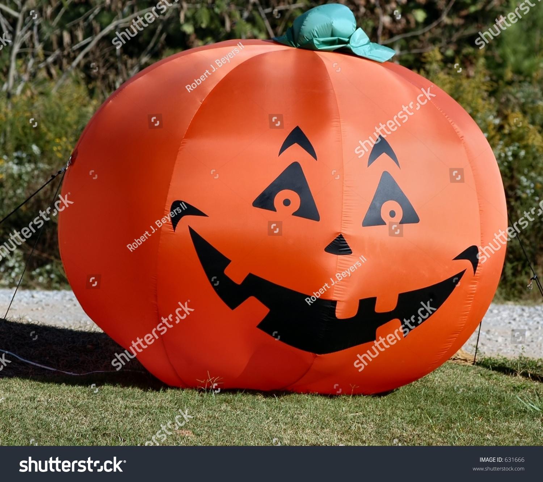 halloween blowup pumpkin stock photo (edit now) 631666 - shutterstock