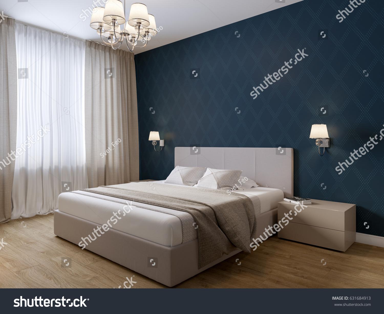 Urban Contemporary Modern Bedroom Interior Design Stock ...
