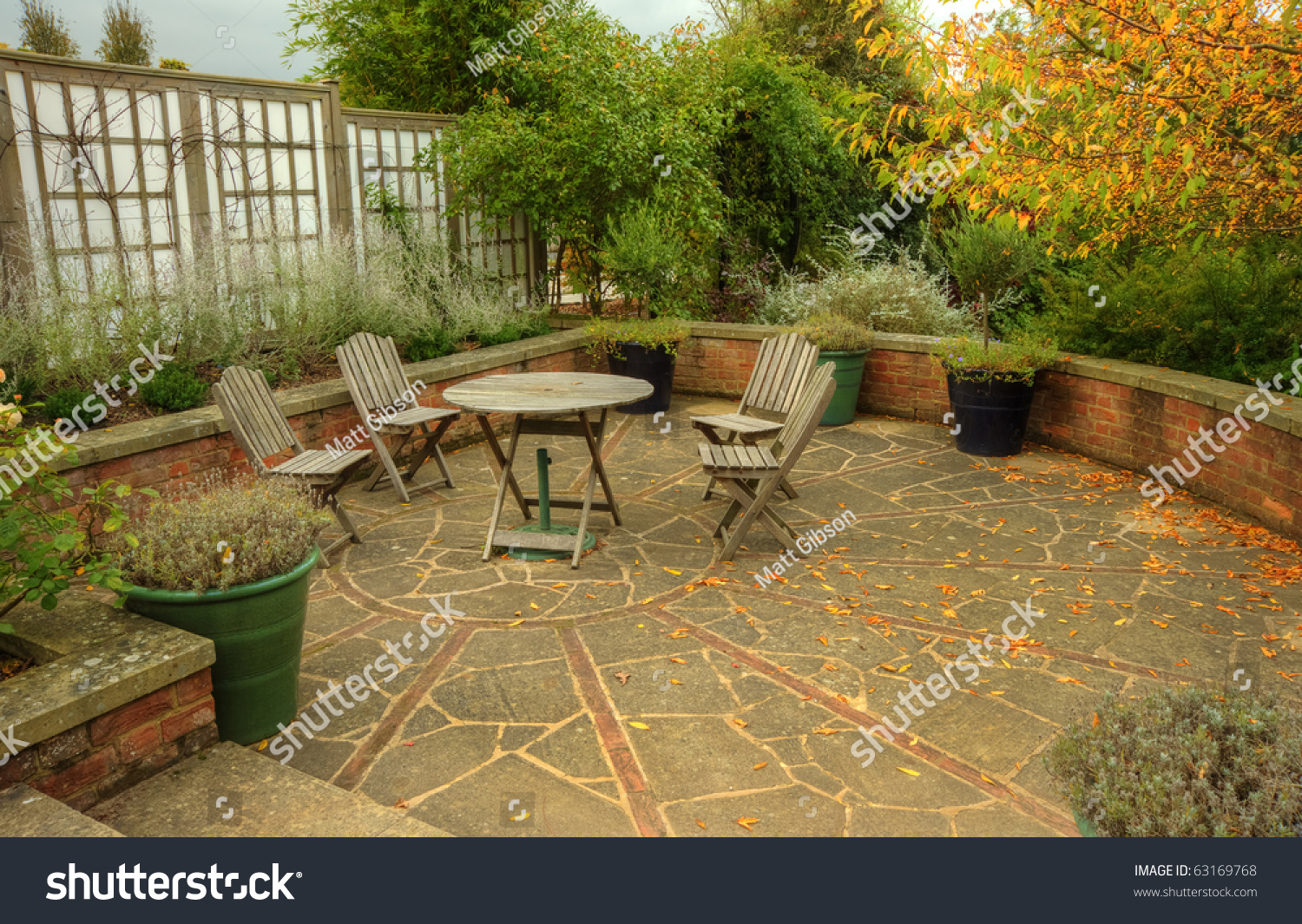 Peaceful Inviting Image English Country Garden Stock Photo (Safe to ...