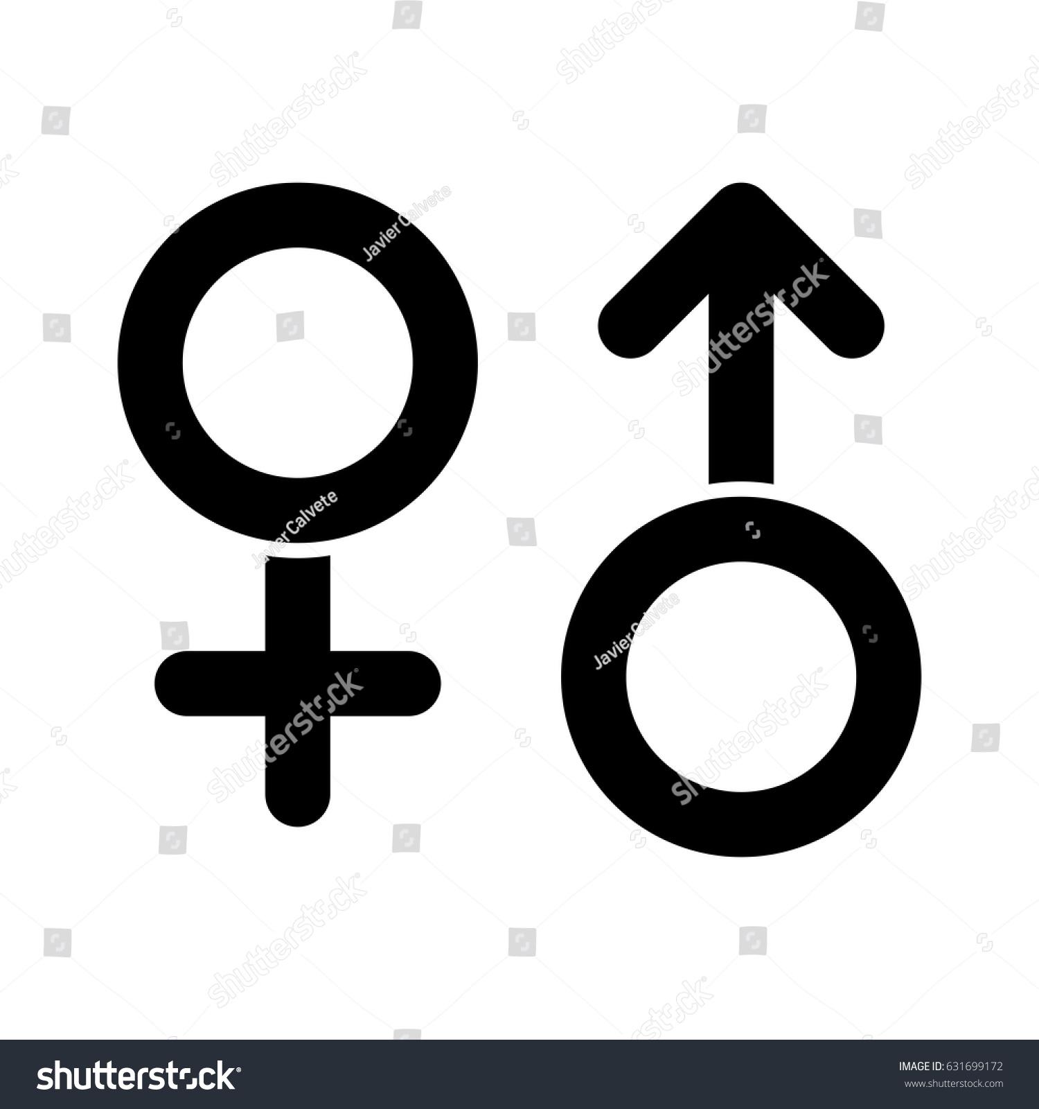 Male female symbols vector stock vector 631699172 shutterstock male female symbols vector buycottarizona