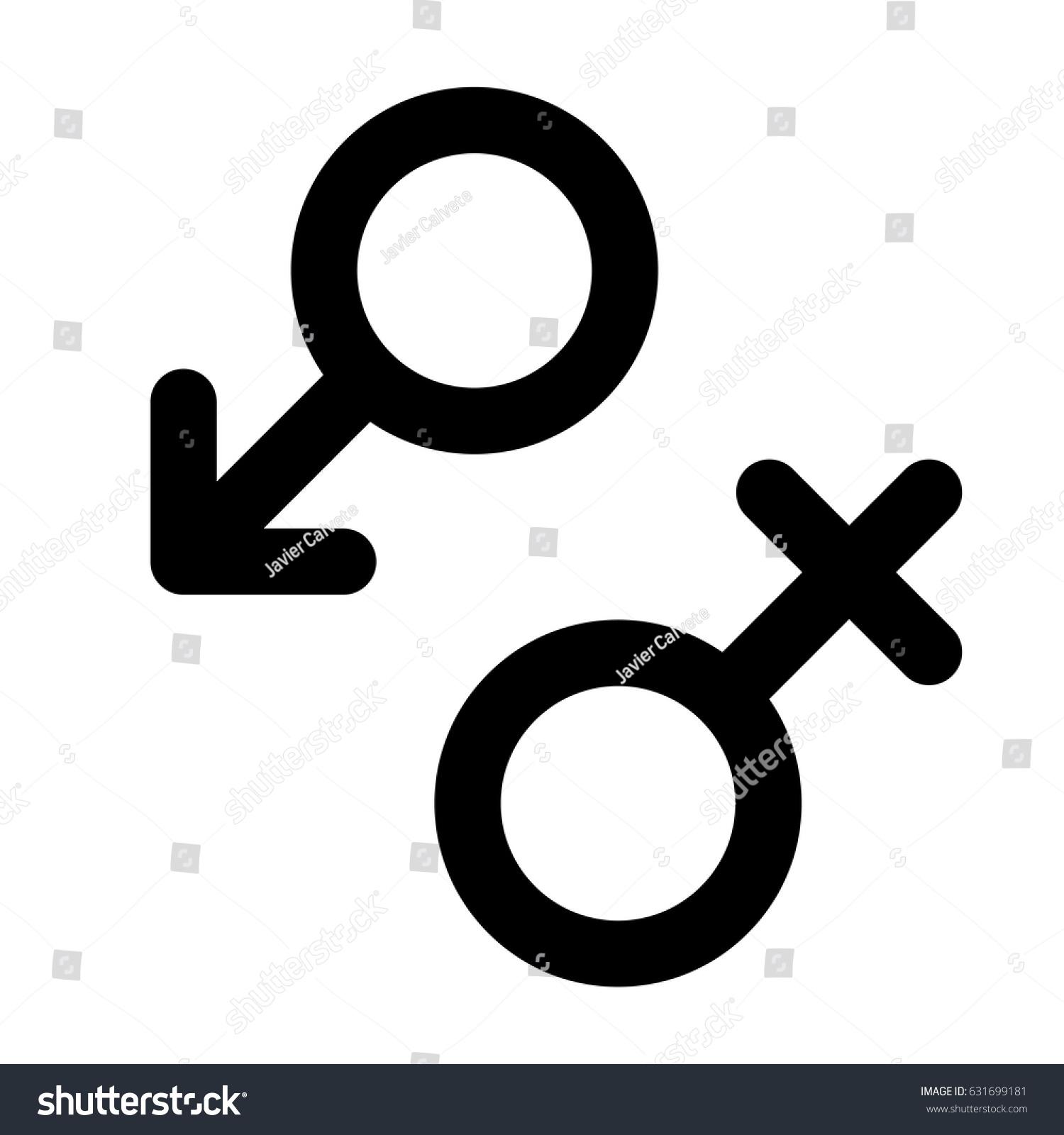 Male Female Symbols Vector Stock Vector 631699181 Shutterstock