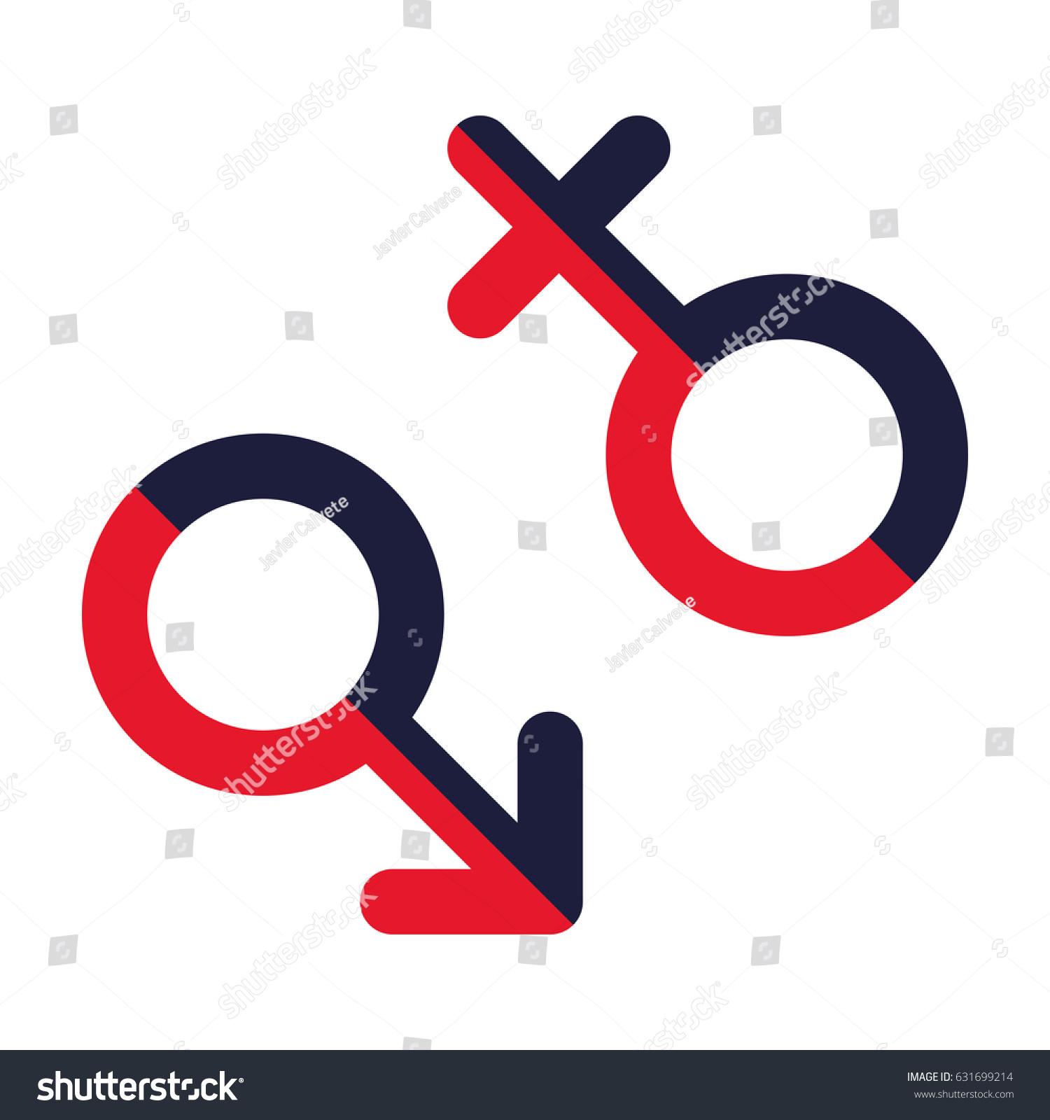 Male Female Symbols Vector Stock Vector 631699214 Shutterstock
