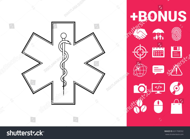 Medical Symbol Star Life Stock Vector 631708592 Shutterstock