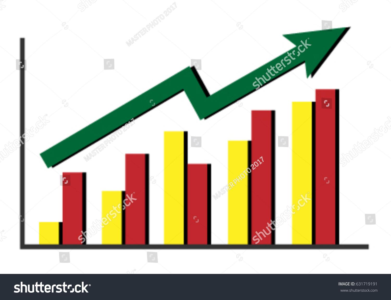clip art icon bar graph shows stock vector (royalty free) 631719191