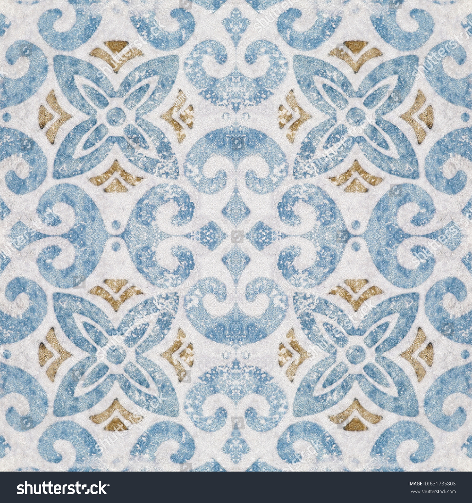 Old Ceramic Tile Wall Patterns Park Stock Photo (Royalty Free ...