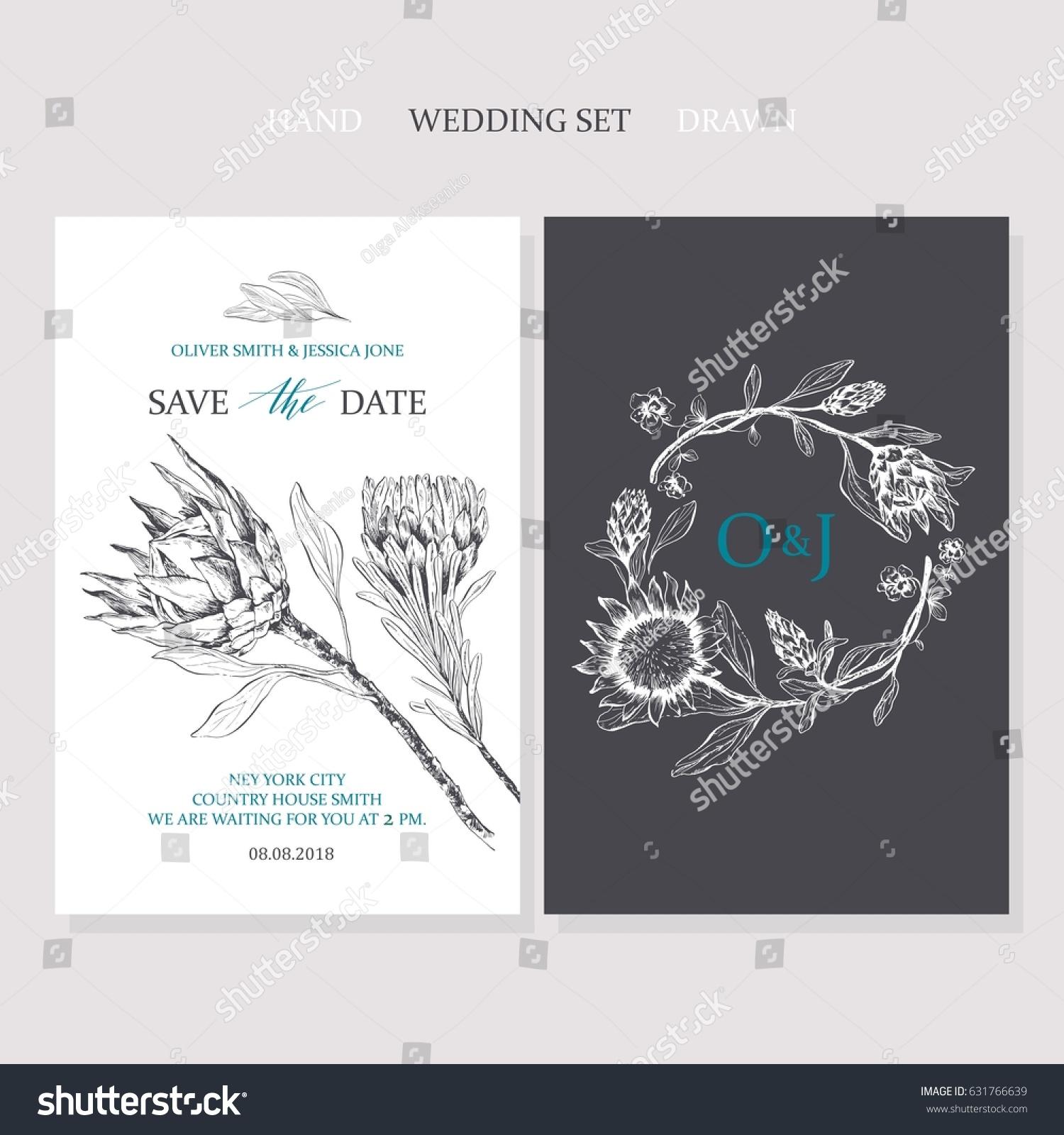 Template Rustic Wedding Invitation Save Date Stock Vector HD ...
