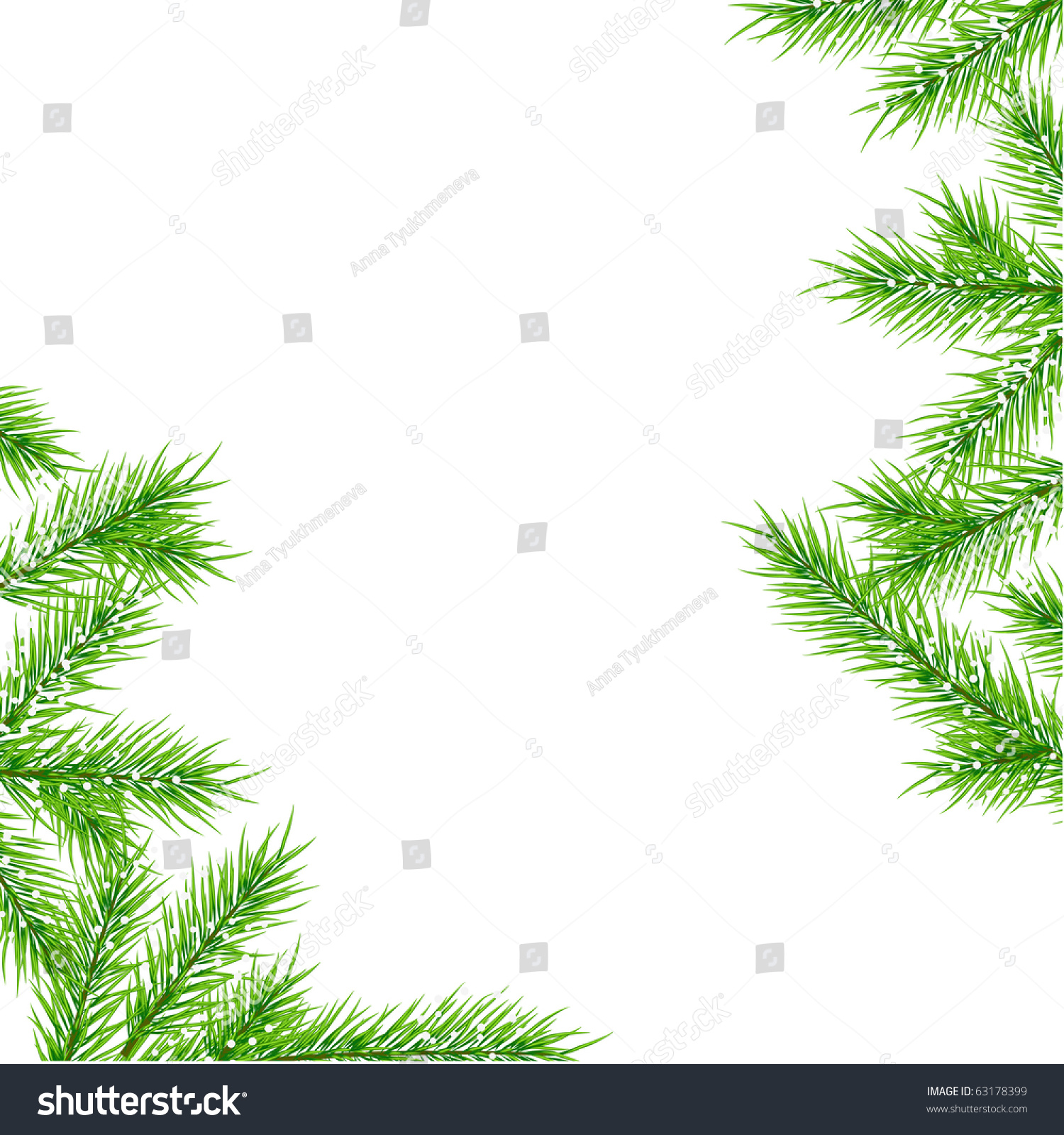 christmas tree branch vector - photo #26