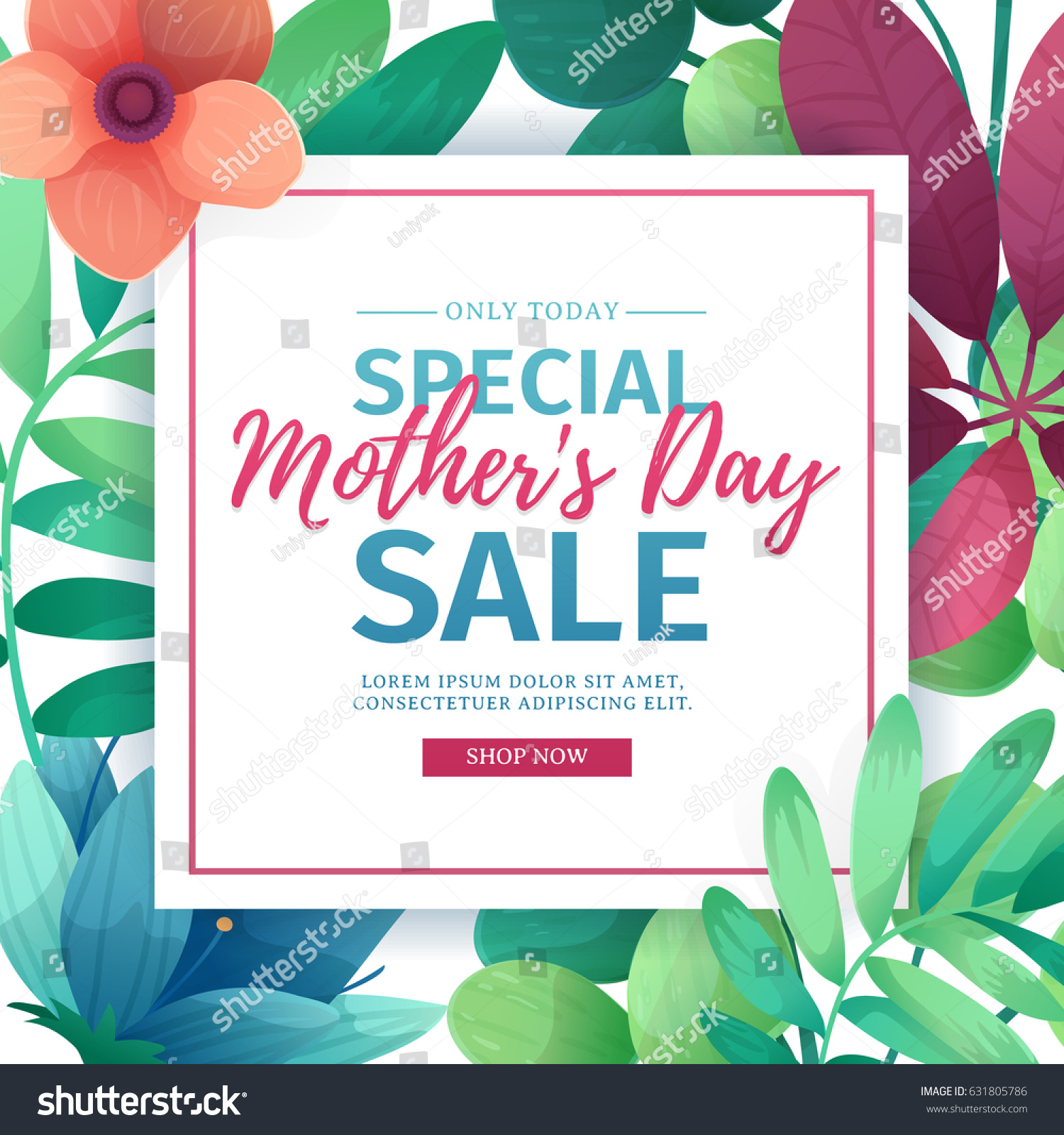 Mothers Day Storewide Sale Template: Template Design Discount Banner Happy Mothers Stock Vector