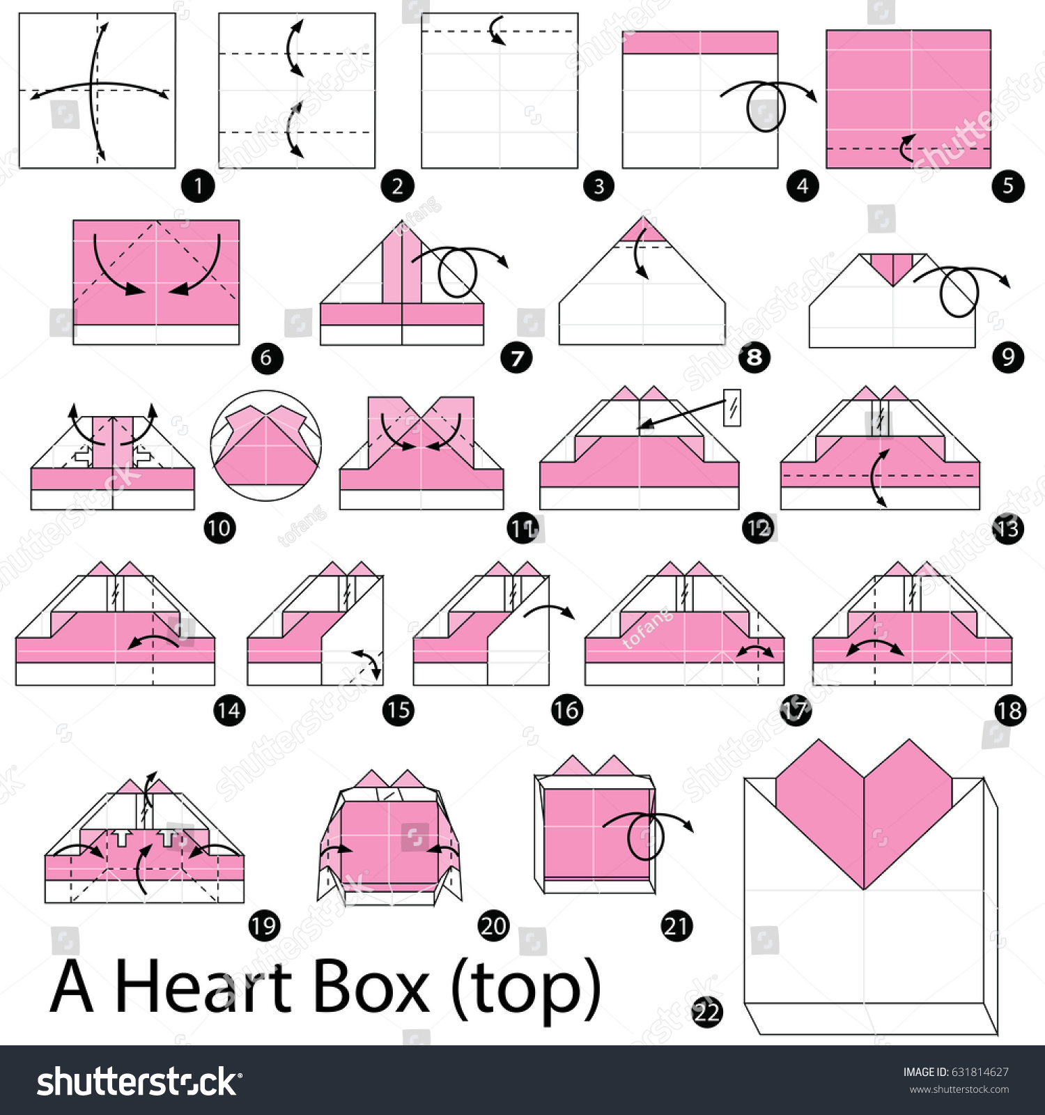 How to make an Origami Heart Box! : origami | 1600x1500