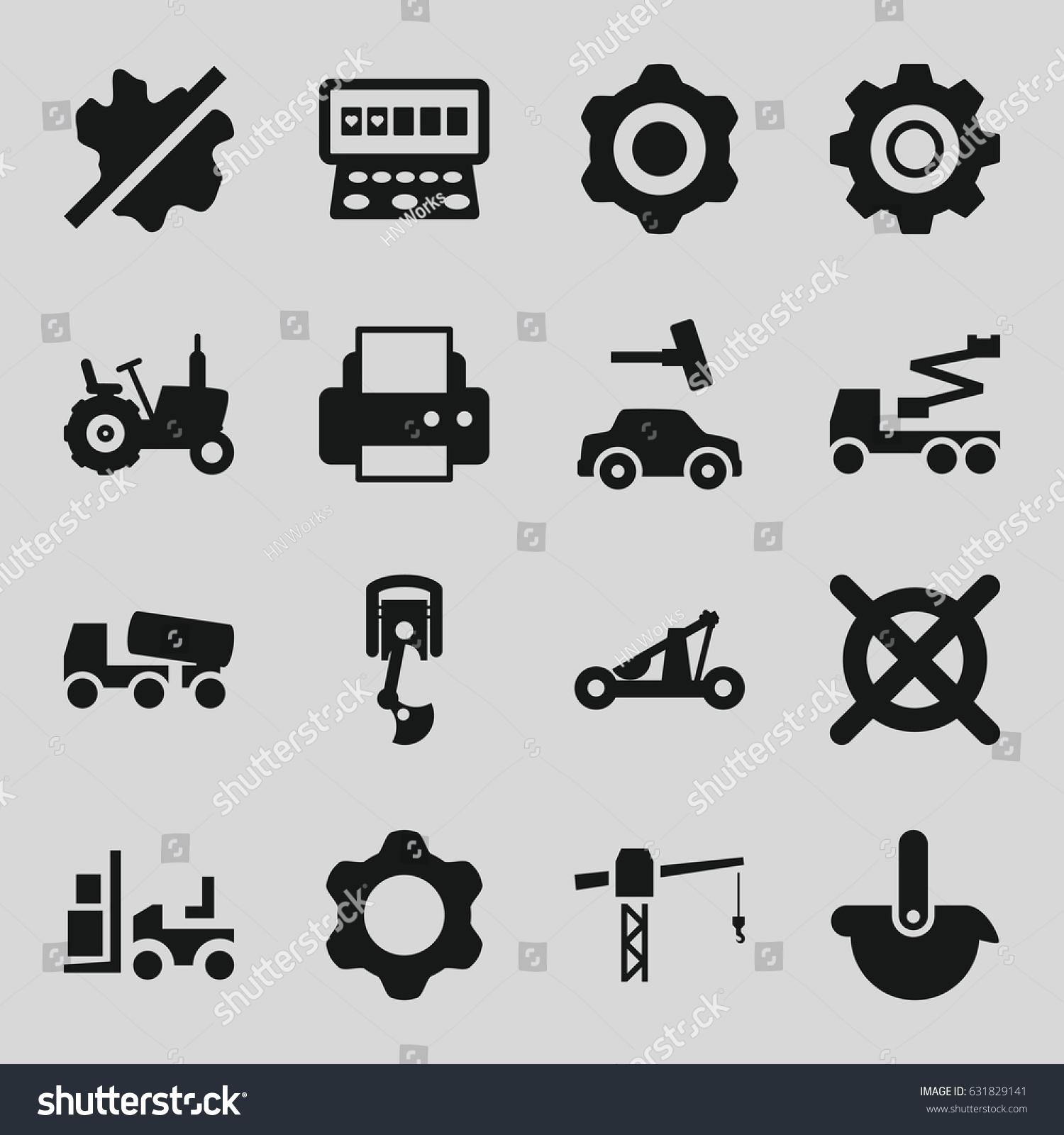 Machine icons set set 16 machine stock vector 631829141 shutterstock machine icons set set of 16 machine filled icons such as tractor slot machine biocorpaavc