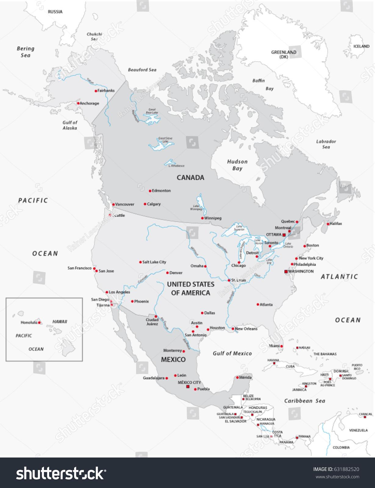 imageshutterstockcomzstock vector map of north