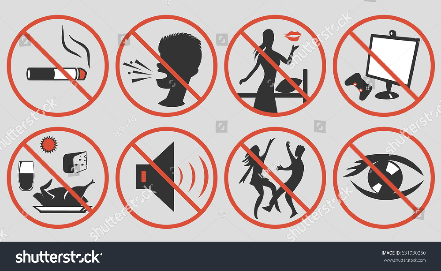 Ramadan Rules Signs Some Actions Restricted Stock Vector 631930250