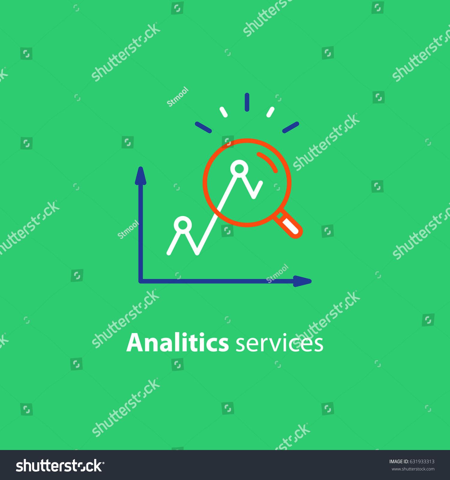 Performance Data Analytics Investment Report Marketing Stock Vector