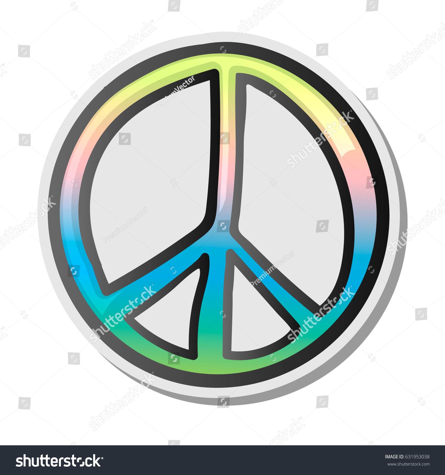 Peace Sign Emoji Sticker Emoticon Vector Stock Vector Royalty Free