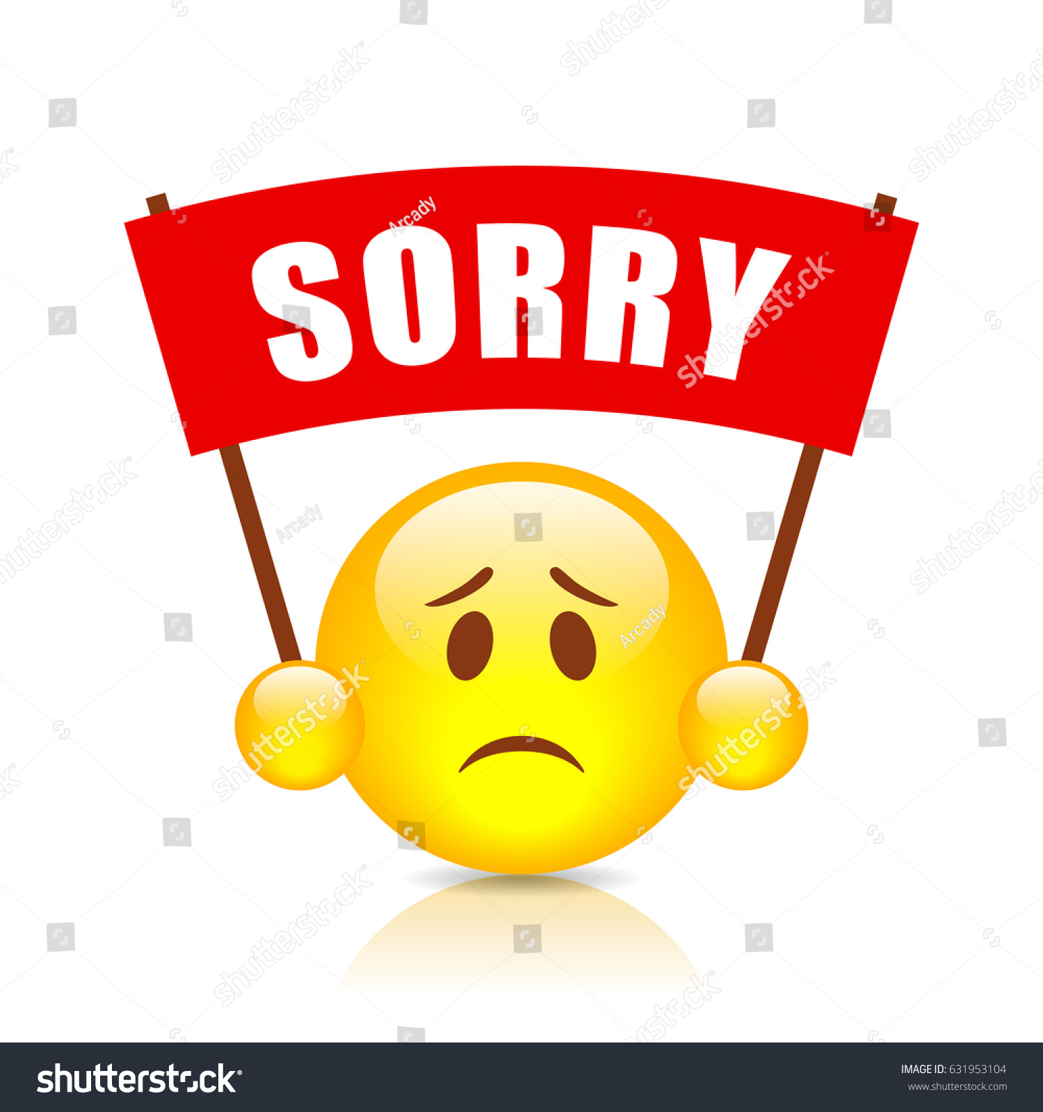 Sorry: Sorry Vector Sign On White Background Stock Vector