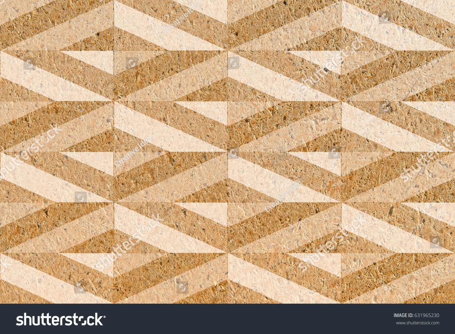 3 D Home Decorative Wall Tiles Design Stock Illustration 631965230 ...
