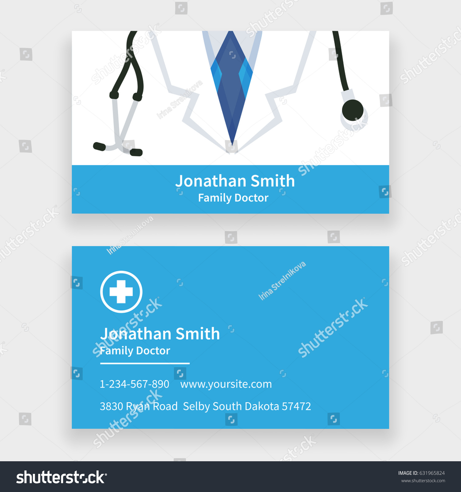 Family Doctor Business Card Template Stock Illustration 631965824 ...