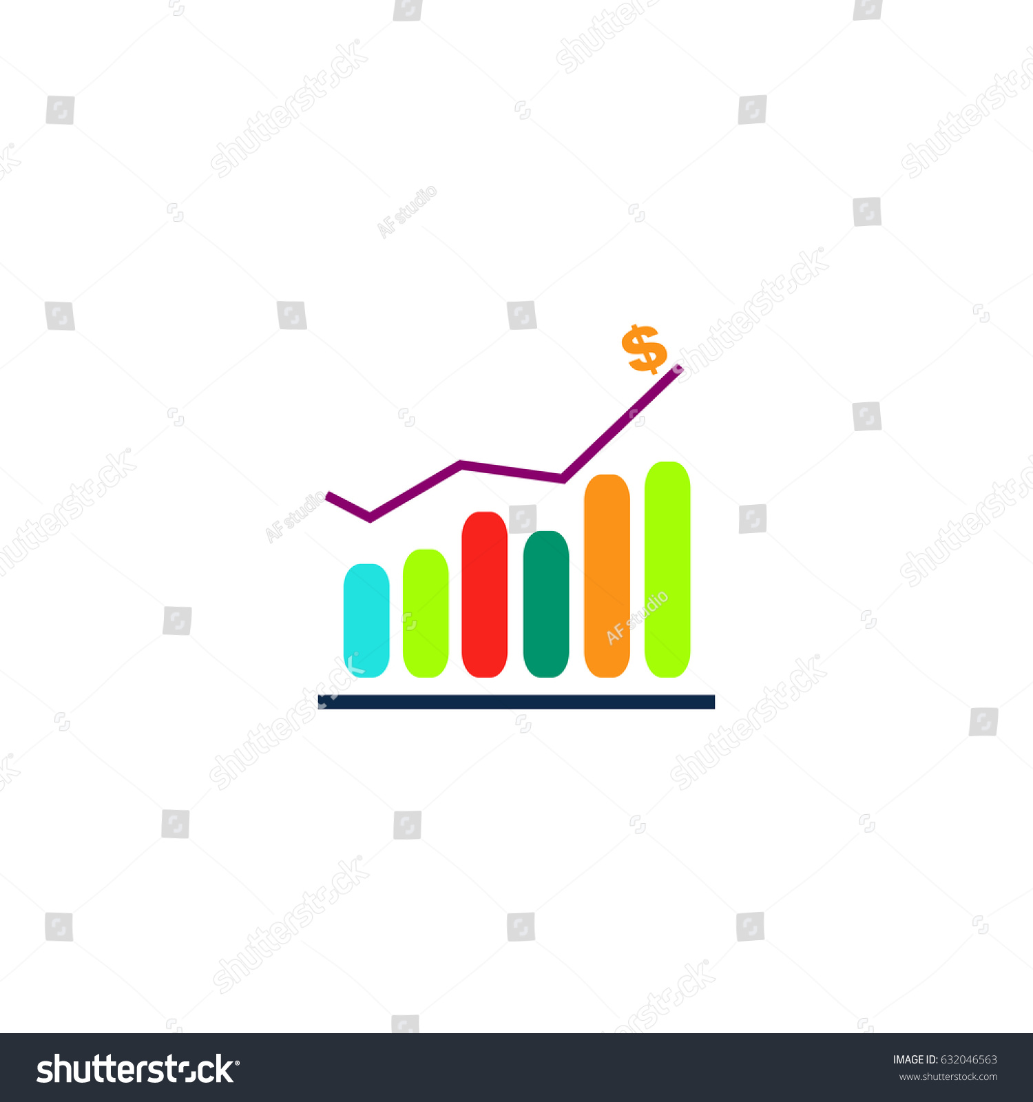 Diagram icon illustration flat color pictogram stock illustration diagram icon illustration flat color pictogram stock illustration 632046563 shutterstock ccuart Image collections