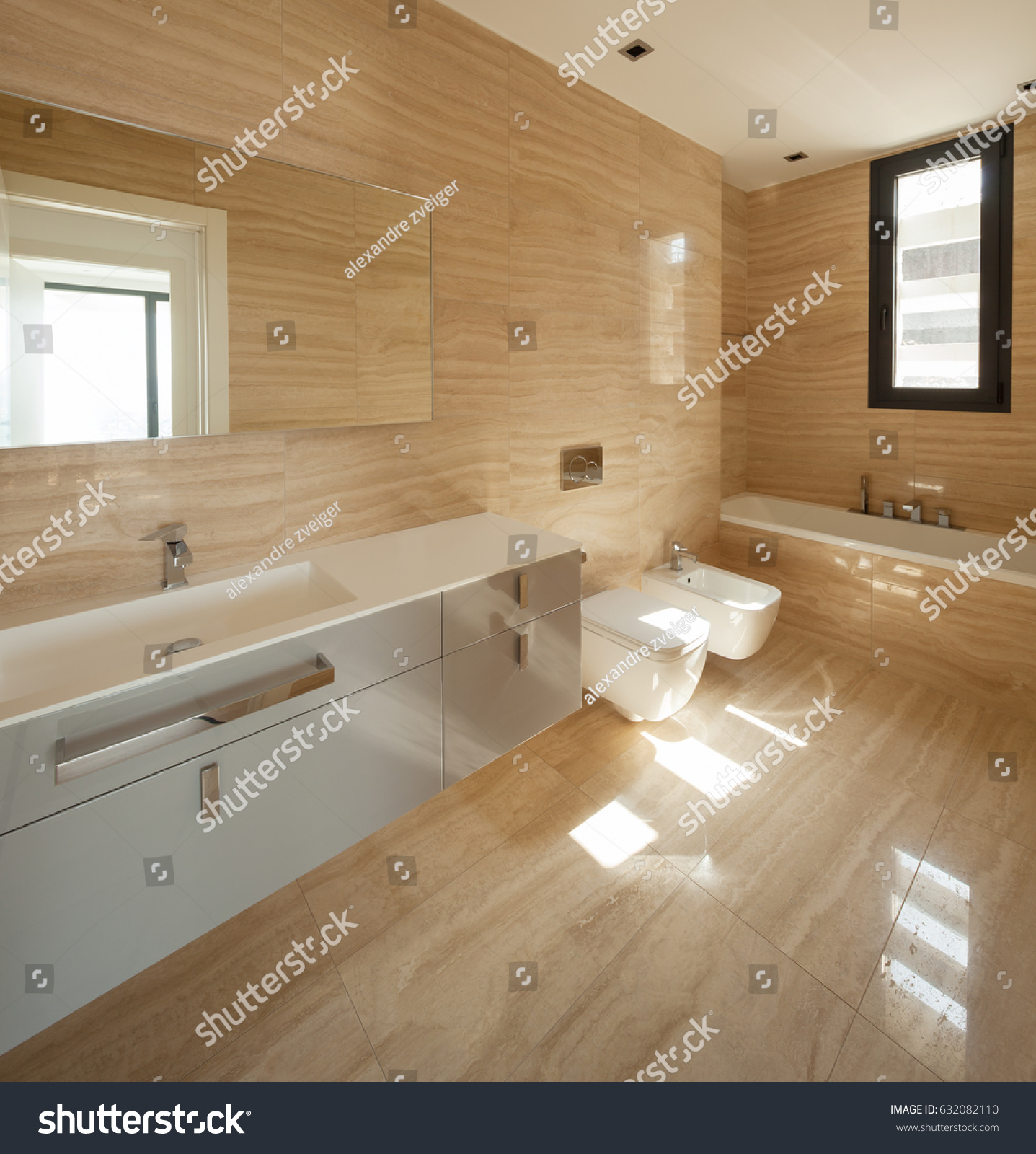 Beige Marble Bathroom