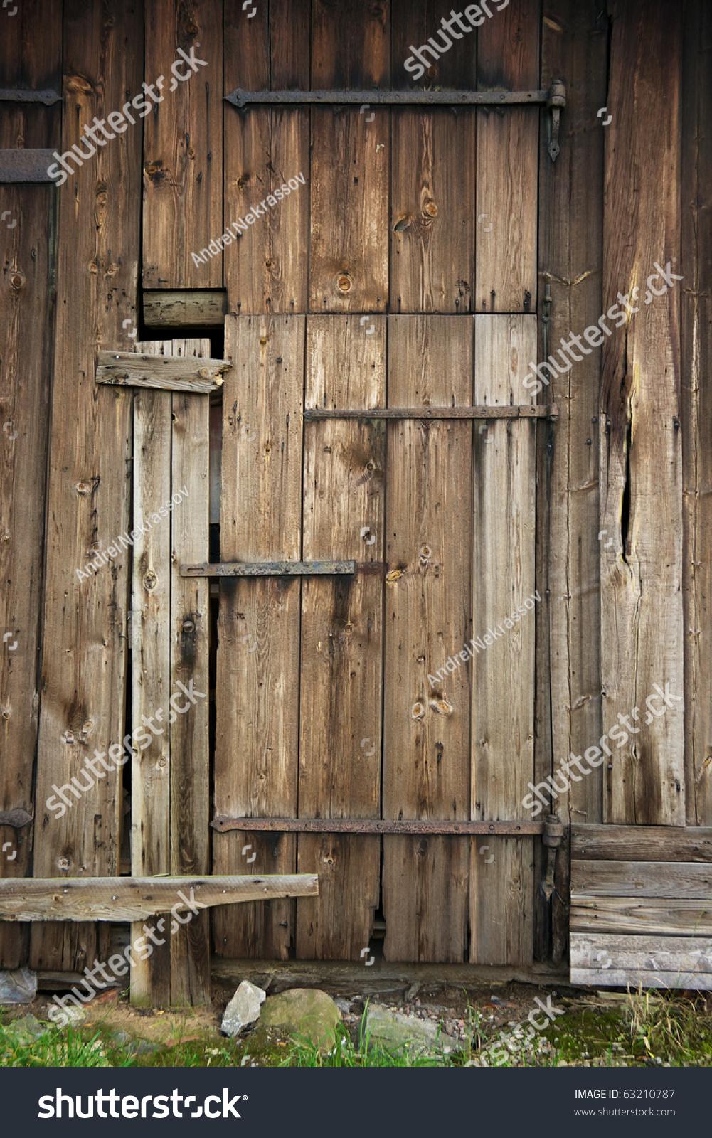 Wooden Door Of Old Barn Stock Photo 63210787 Shutterstock