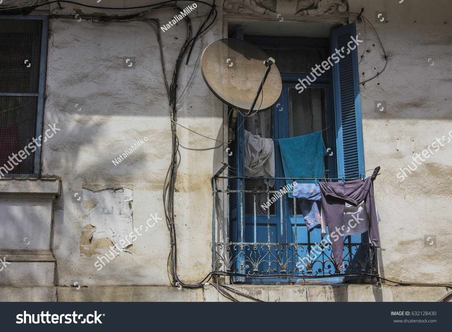 Algiers Algeria March 29 2017 French Stock Photo Edit Now Electrical Wiring Colonial Architecture At Old Part Of