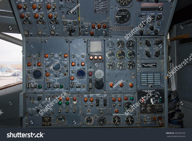 Instrument Panel Inside Cockpit Abandoned Airplane Stock Photo (Edit