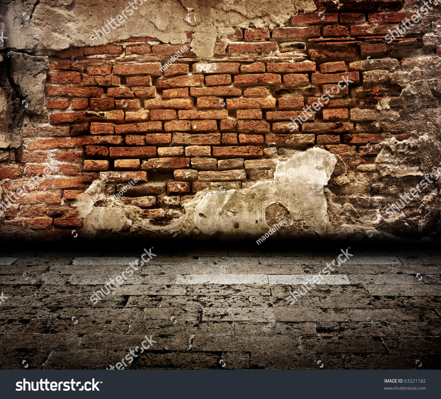 Old Brick Wall Room Stock Photo 63221182 Shutterstock
