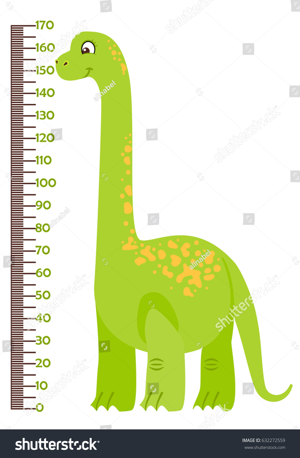 Vector illustration kids height chart cartoon stock vector vector illustration of kids height chart with cartoon dinosaur meter wall or baby scale of nvjuhfo Gallery