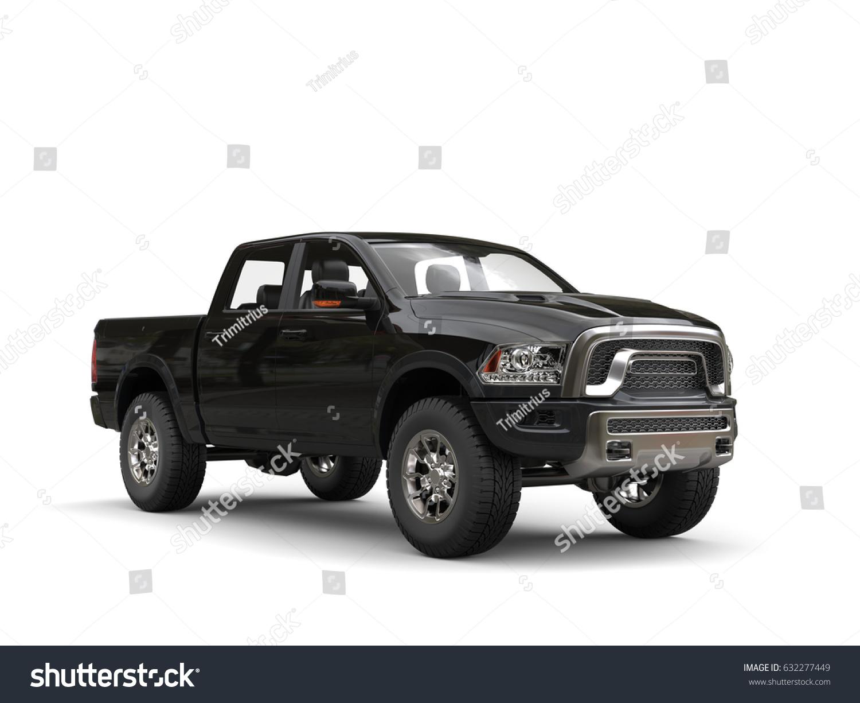 Jet Black Modern Pickup Truck Studio Stock Illustration 632277449 ...