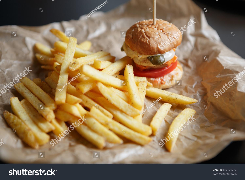 Tasty Little Baby Burger Cafe Menufast Stock Photo Edit Now 632324222