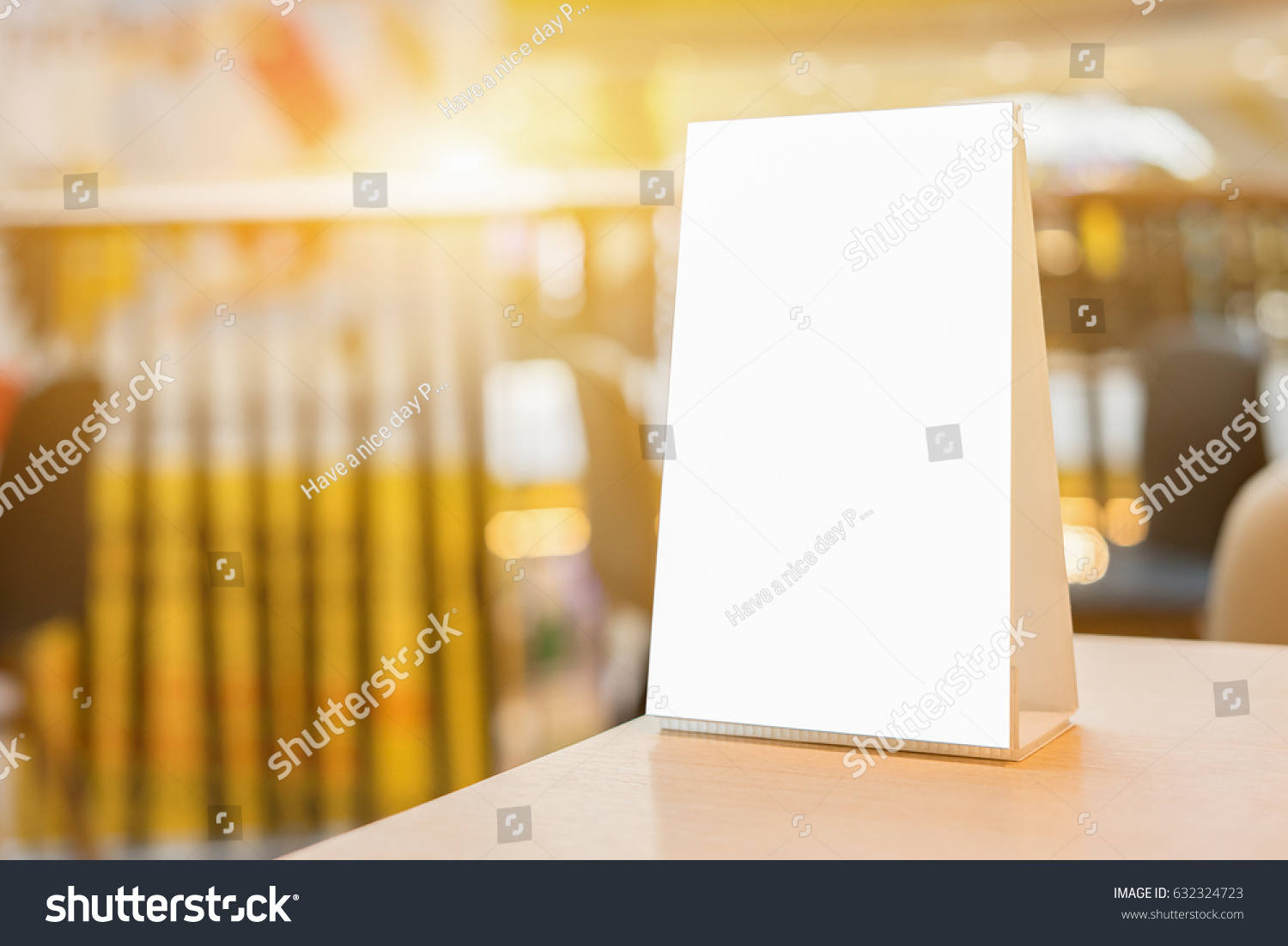 mock menu frame on table bar stock photo edit now 632324723