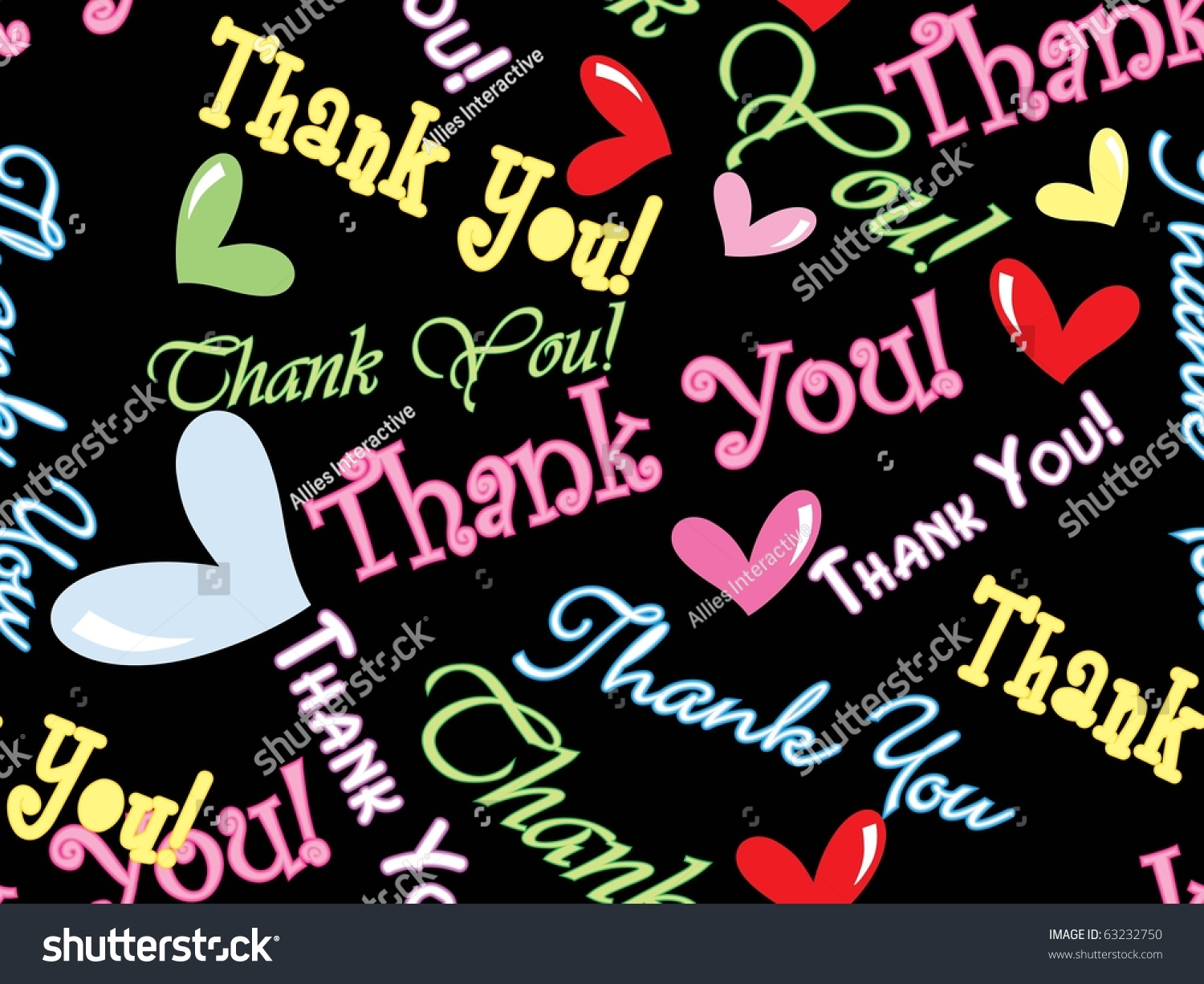 Abstract Thank You Background Vector Illustration Stock