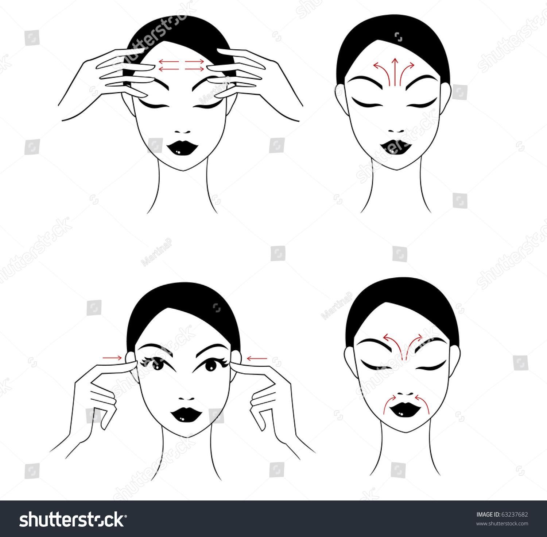 Face Massage Instructions Stock Illustration 63237682 Shutterstock