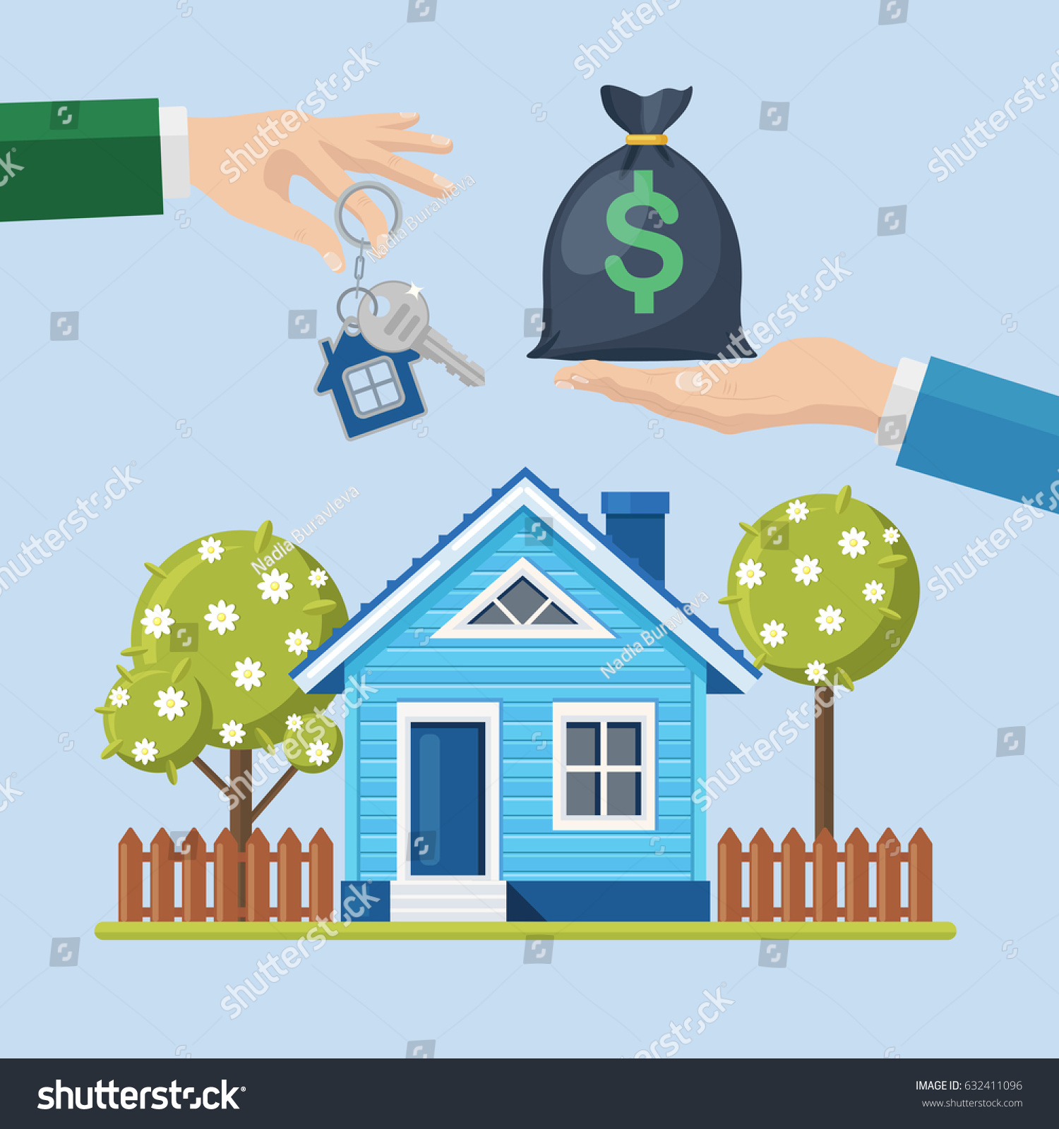 Buying House Property Real Estate Home Stock Vector