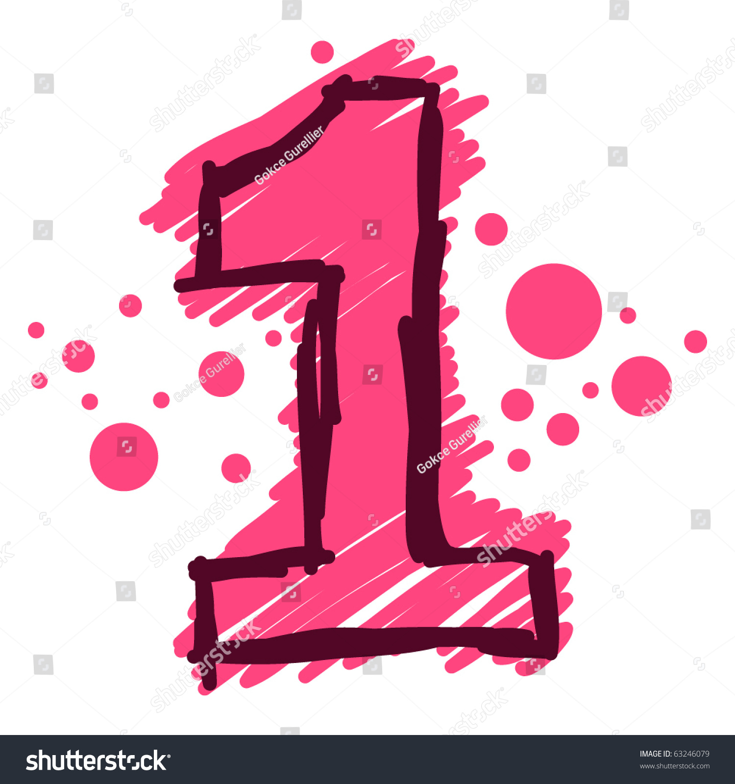 number 1 stock vector royalty free 63246079 shutterstock