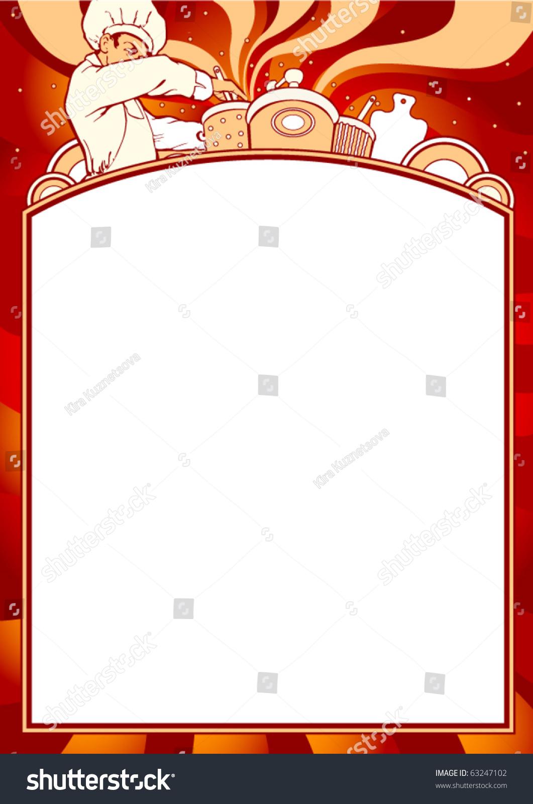 Empty Blank Menu Any Cuisine Theme Stock Vector 63247102