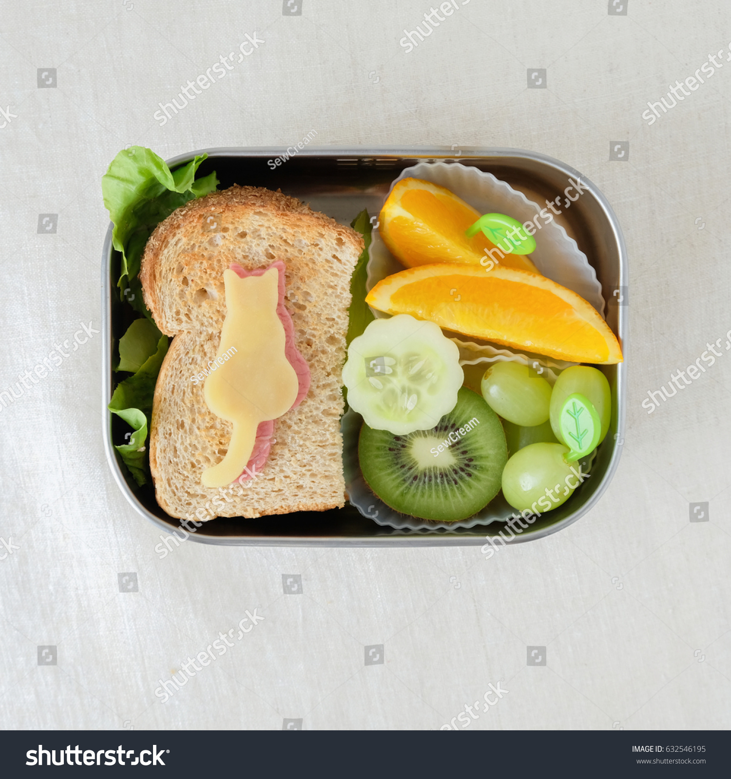 cat lunch box fun food art stock photo 632546195 shutterstock