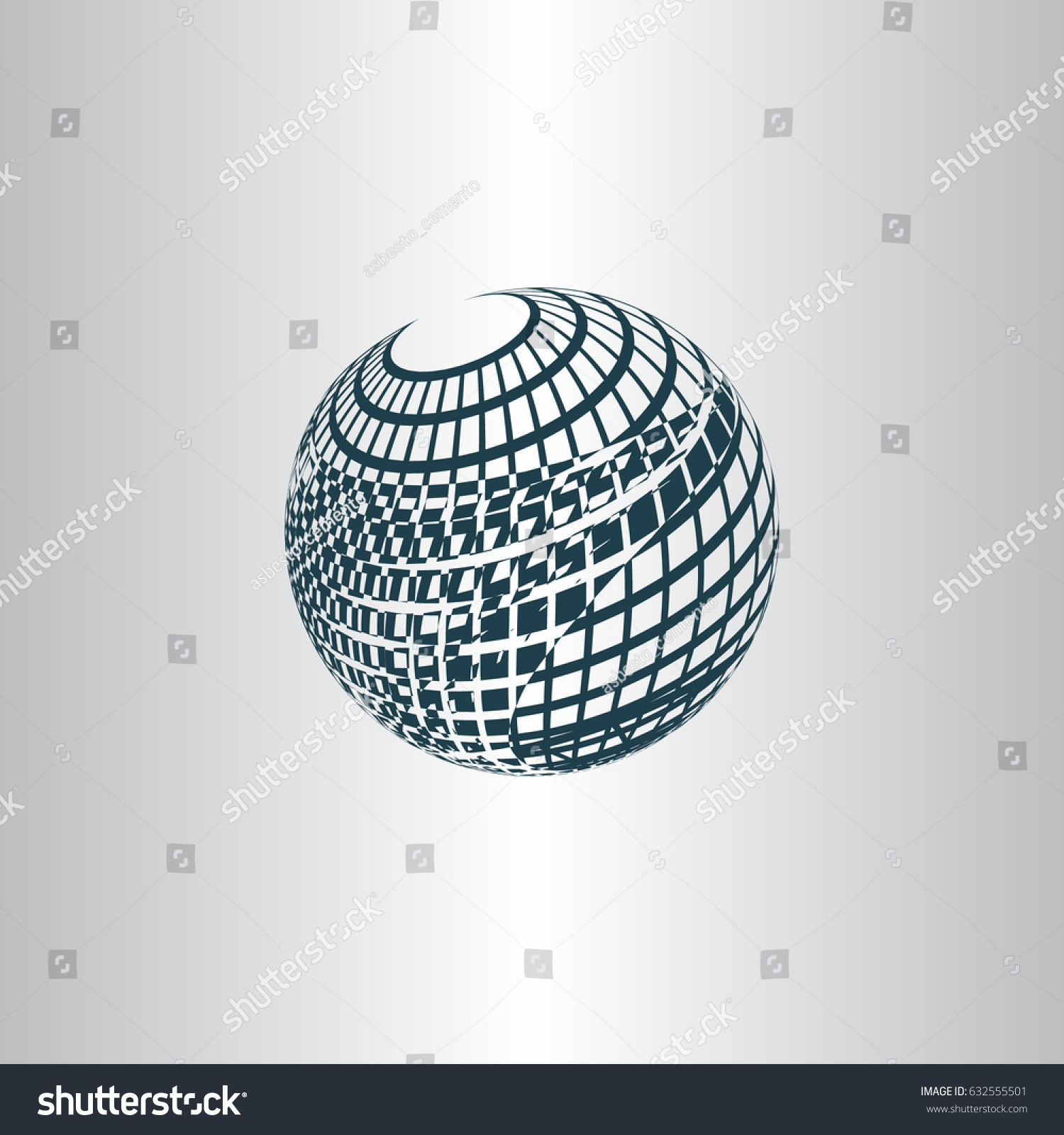 Wireframe Design Element Sphere Stock Vector Stock Vector (Royalty ...