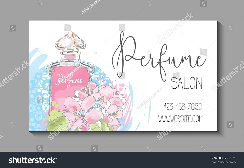 Makeup Artist Business Card Vector Template Stock Vector 632558924 ...