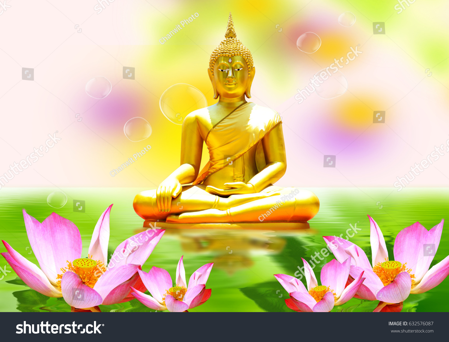 Lotus Flower Thailand Buddha Statue On Stock Photo Edit Now