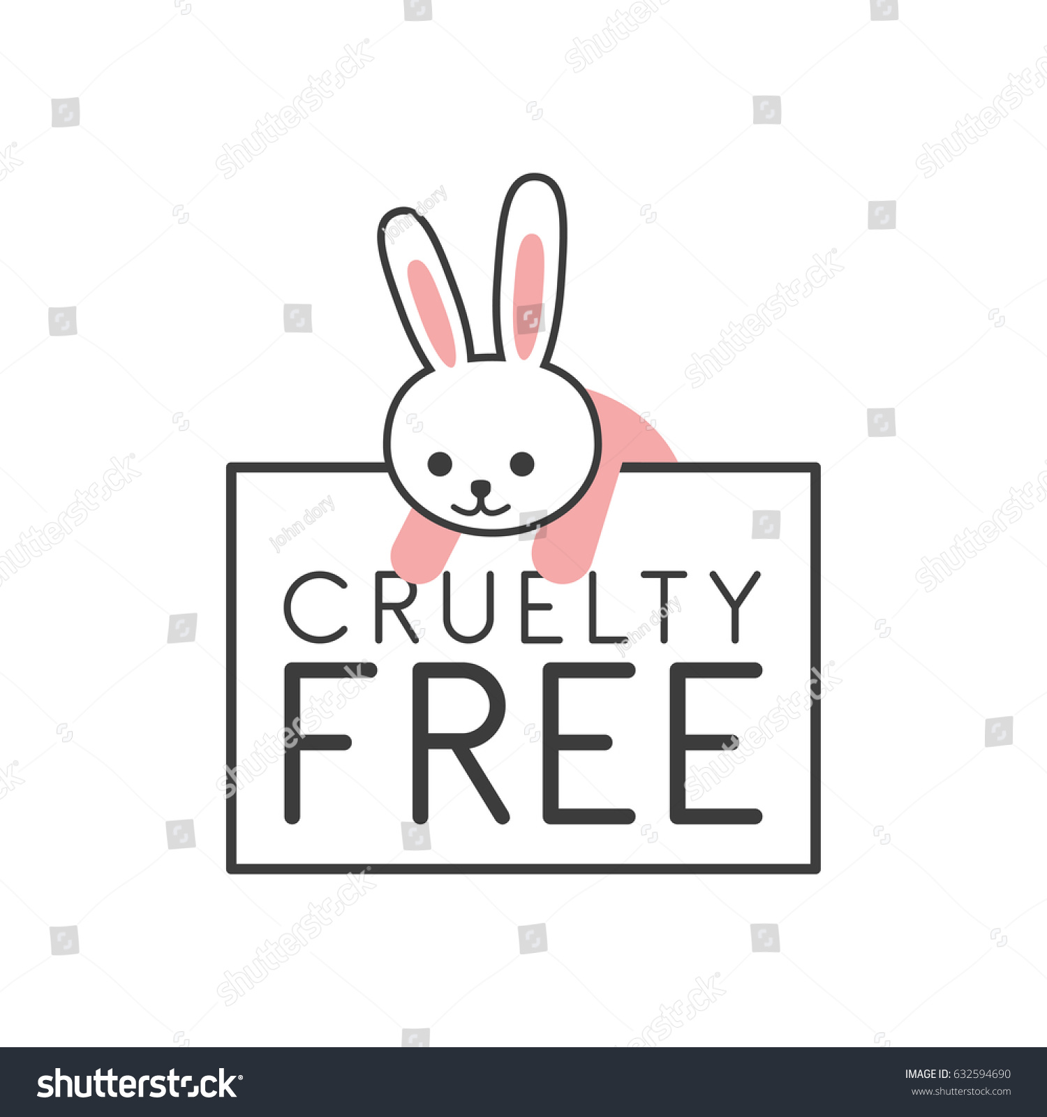 Animal cruelty free symbol can be stock vector 632594690 shutterstock animal cruelty free symbol can be used as sticker logo stamp icon biocorpaavc Gallery
